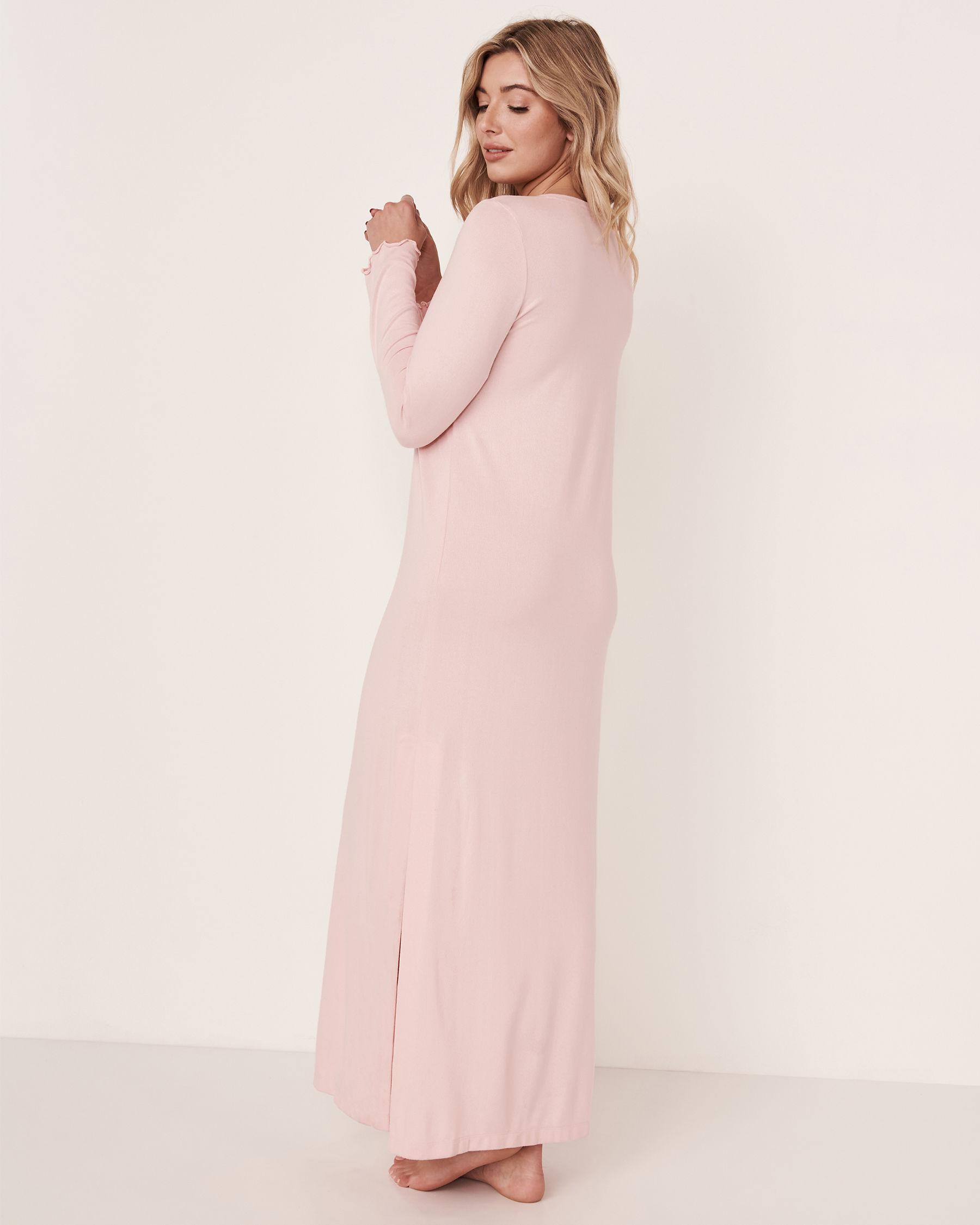 LA VIE EN ROSE Recycled Fibers Maxi Sleepshirt Light pink 40500068 - View3