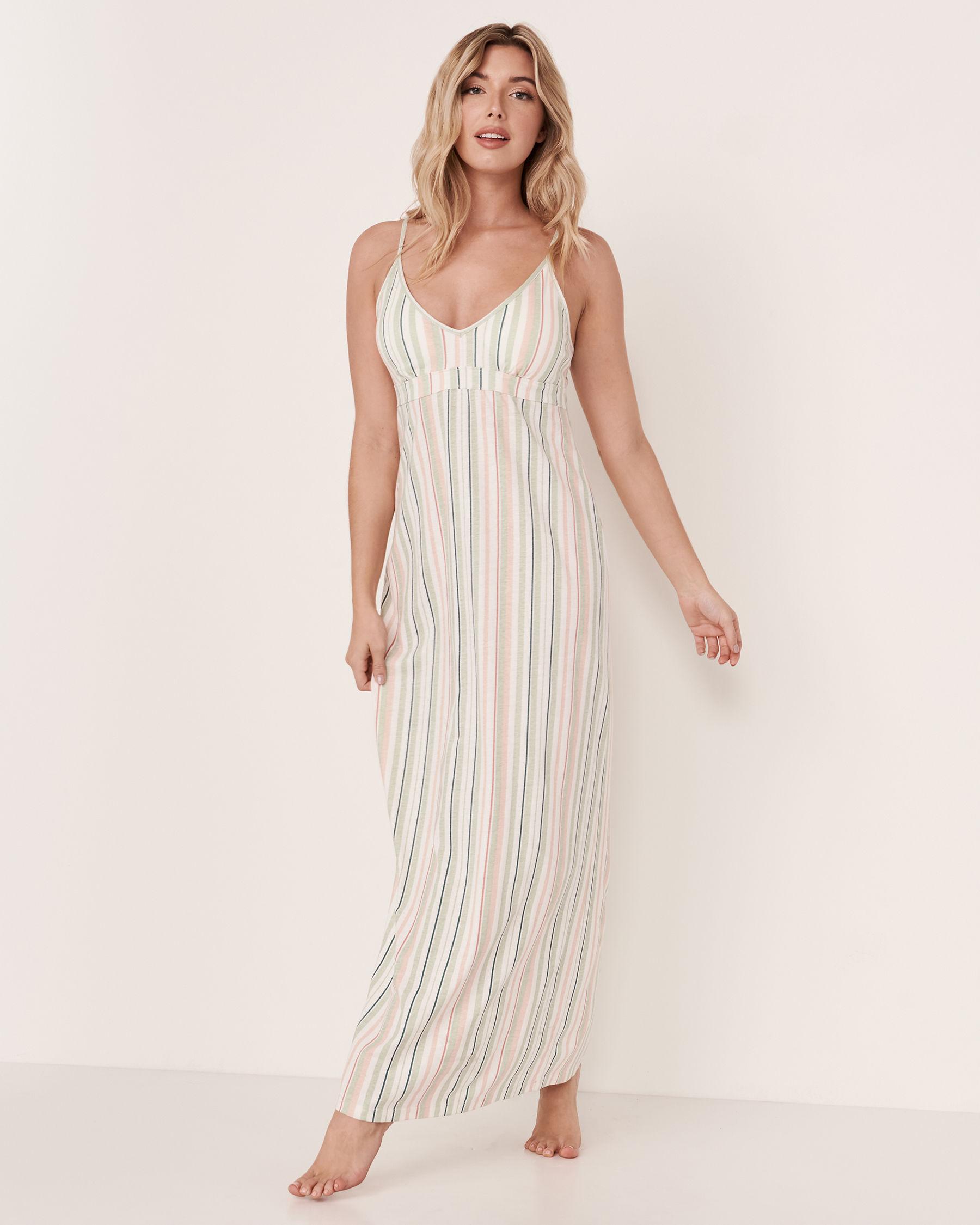 LA VIE EN ROSE Thin Straps Gown Multi stripes 40500070 - View1