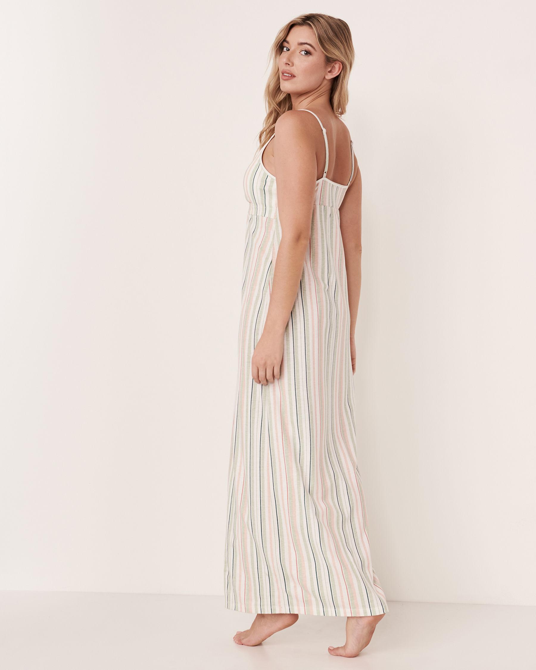 LA VIE EN ROSE Thin Straps Gown Multi stripes 40500070 - View2