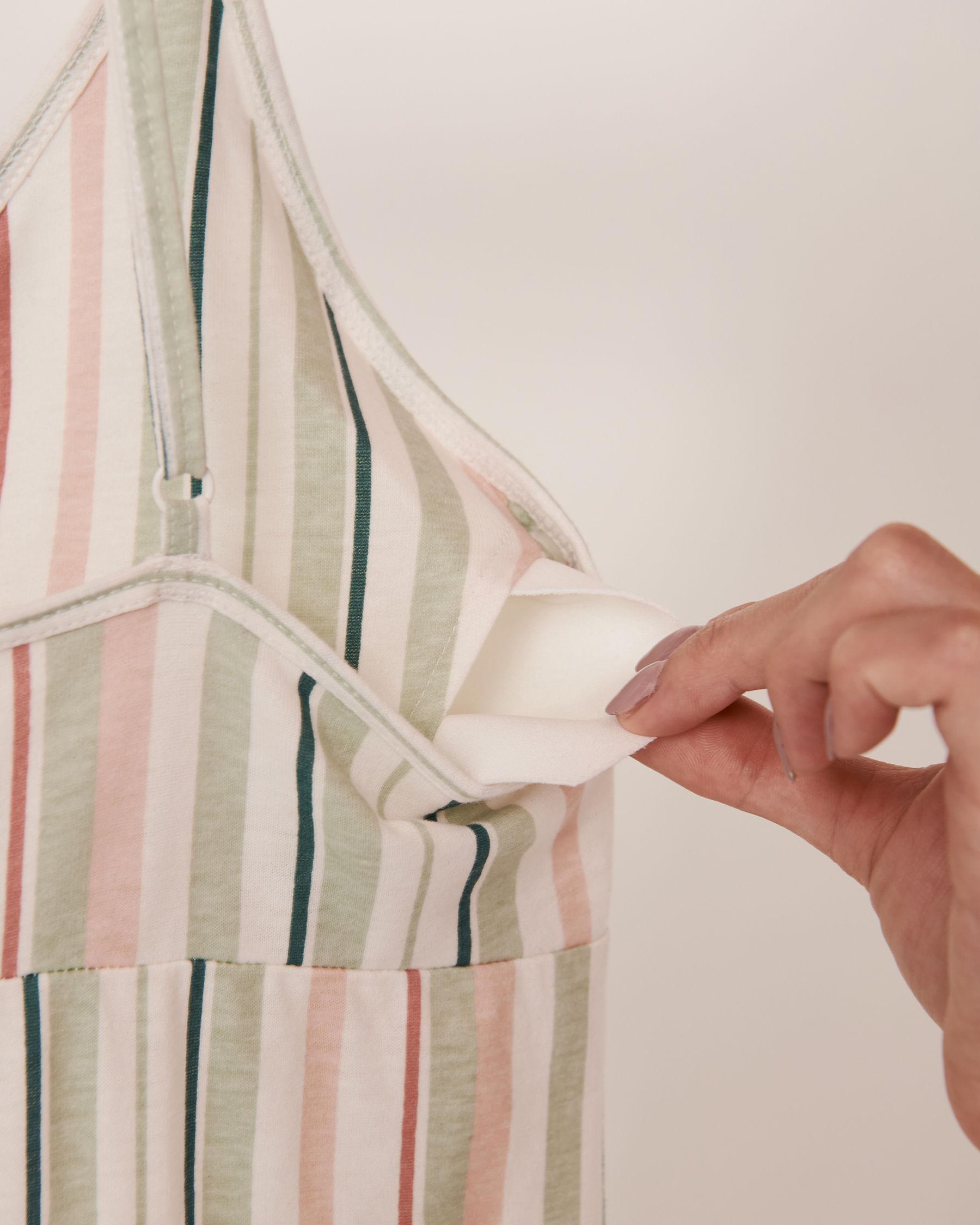 LA VIE EN ROSE Thin Straps Gown Multi stripes 40500070 - View3