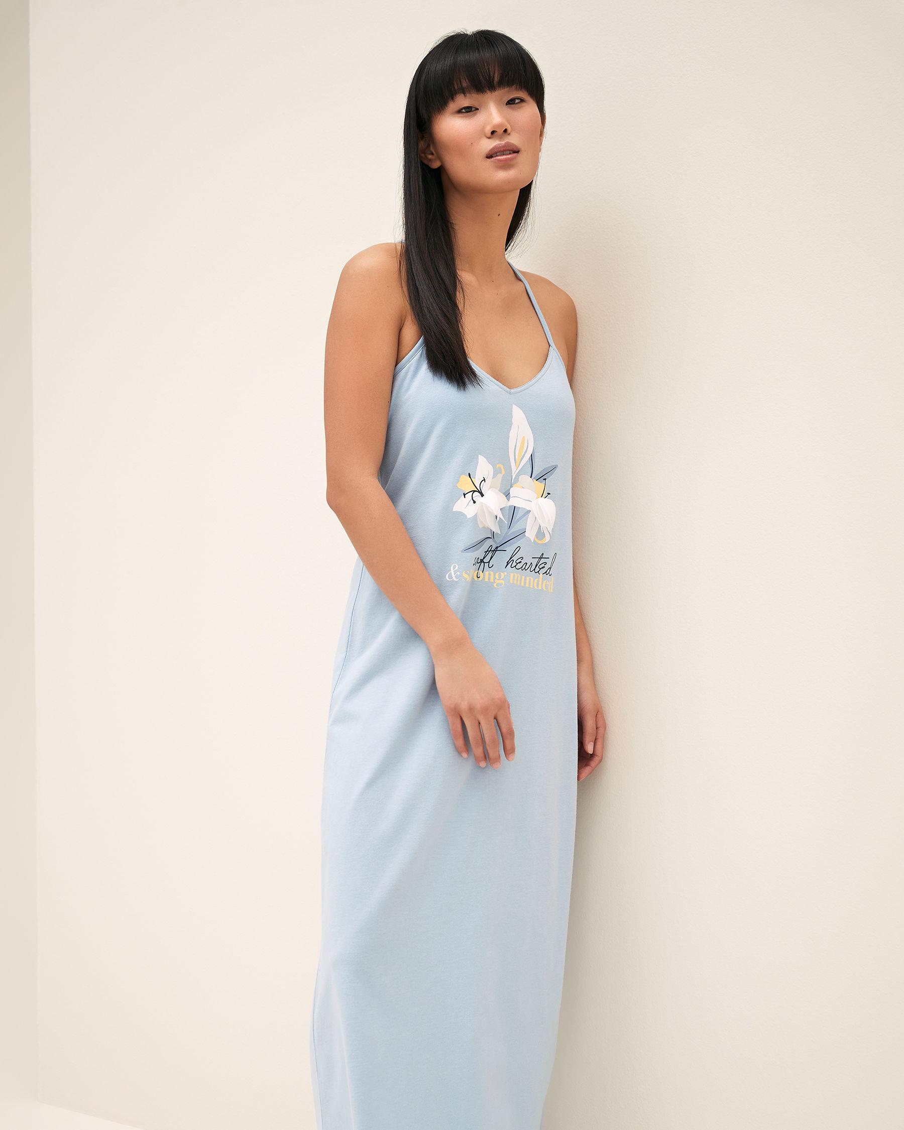 LA VIE EN ROSE 3D Petals Gown Blue sky 40500011 - View1