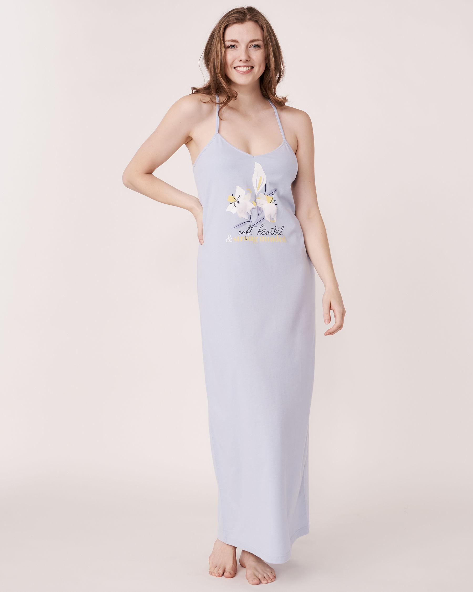 LA VIE EN ROSE 3D Petals Gown Blue sky 40500011 - View5