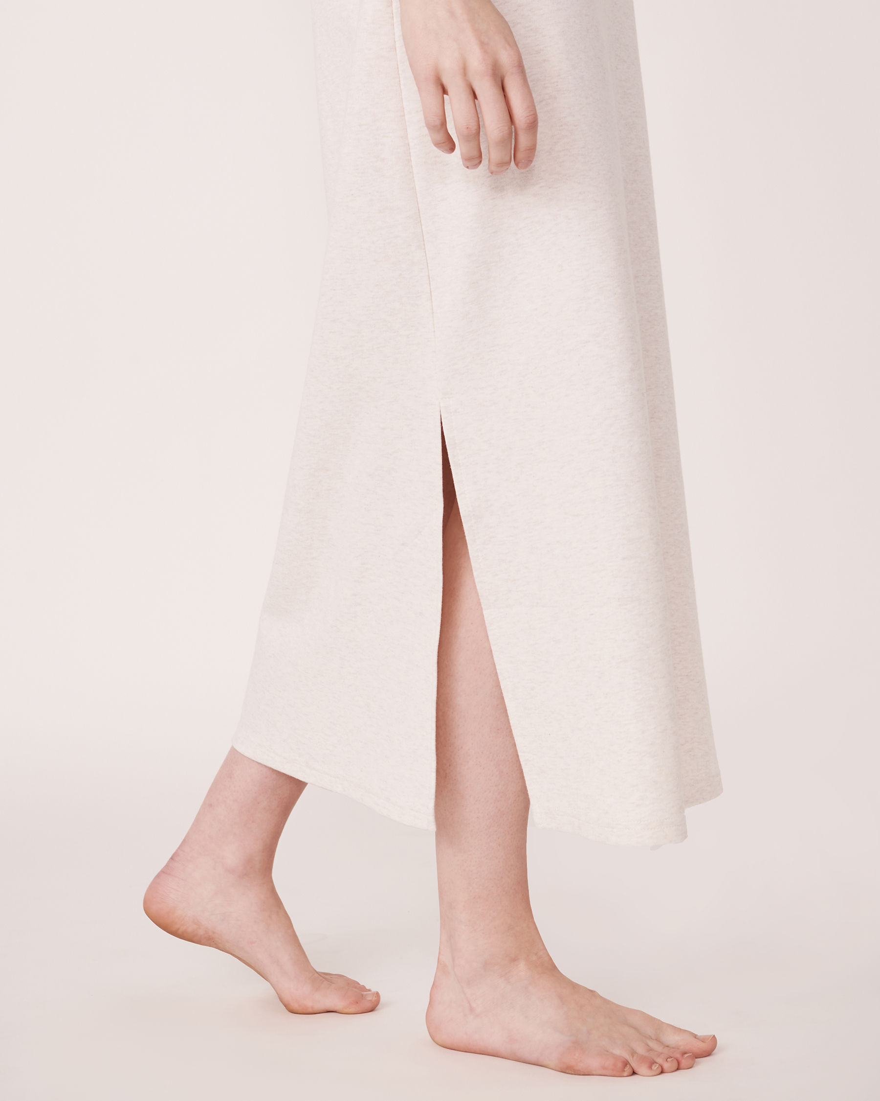 LA VIE EN ROSE Organic Cotton Sleeveless Long Sleepshirt Soft grey 40500002 - View5
