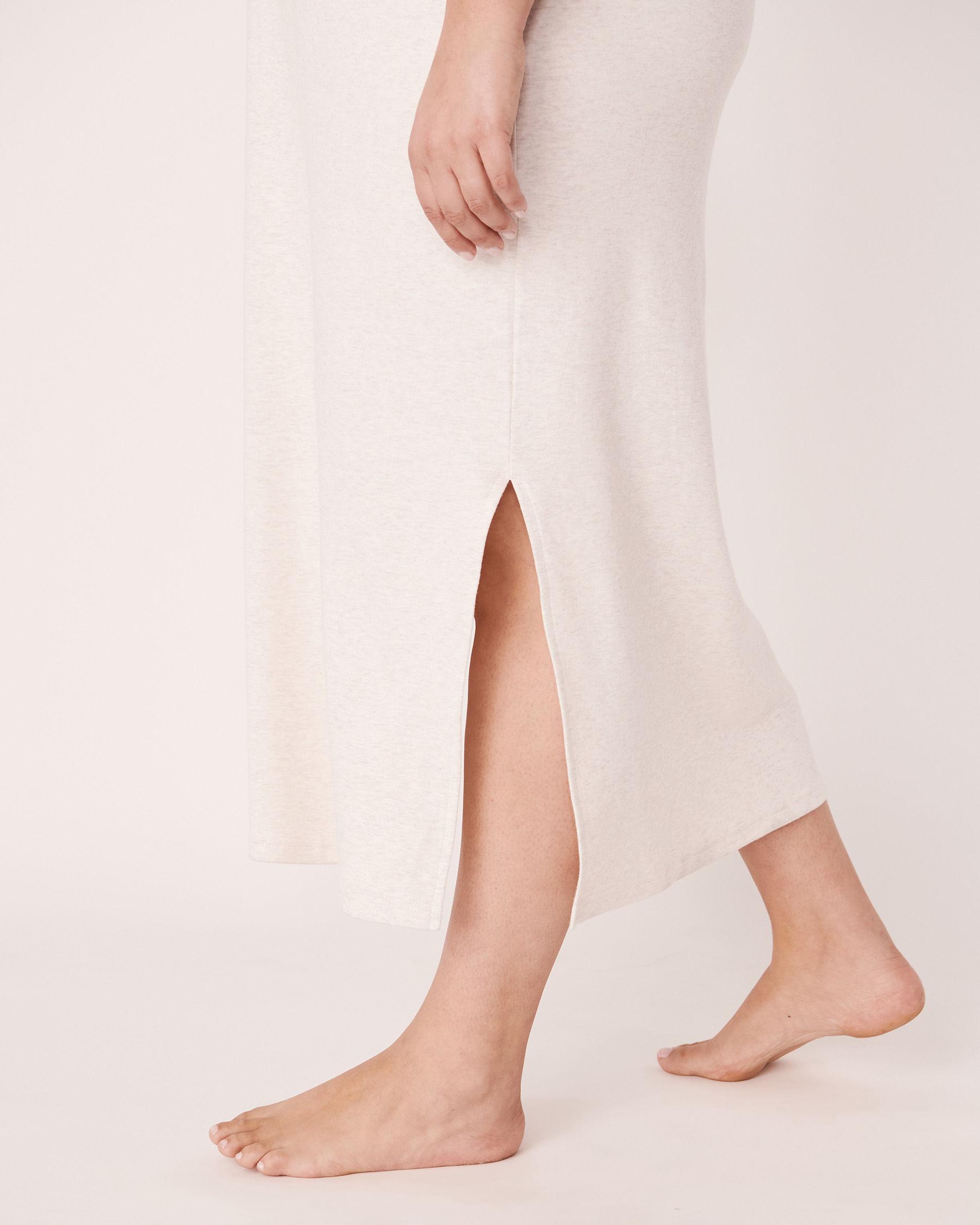 LA VIE EN ROSE Organic Cotton Sleeveless Long Sleepshirt Soft grey 40500002 - View6