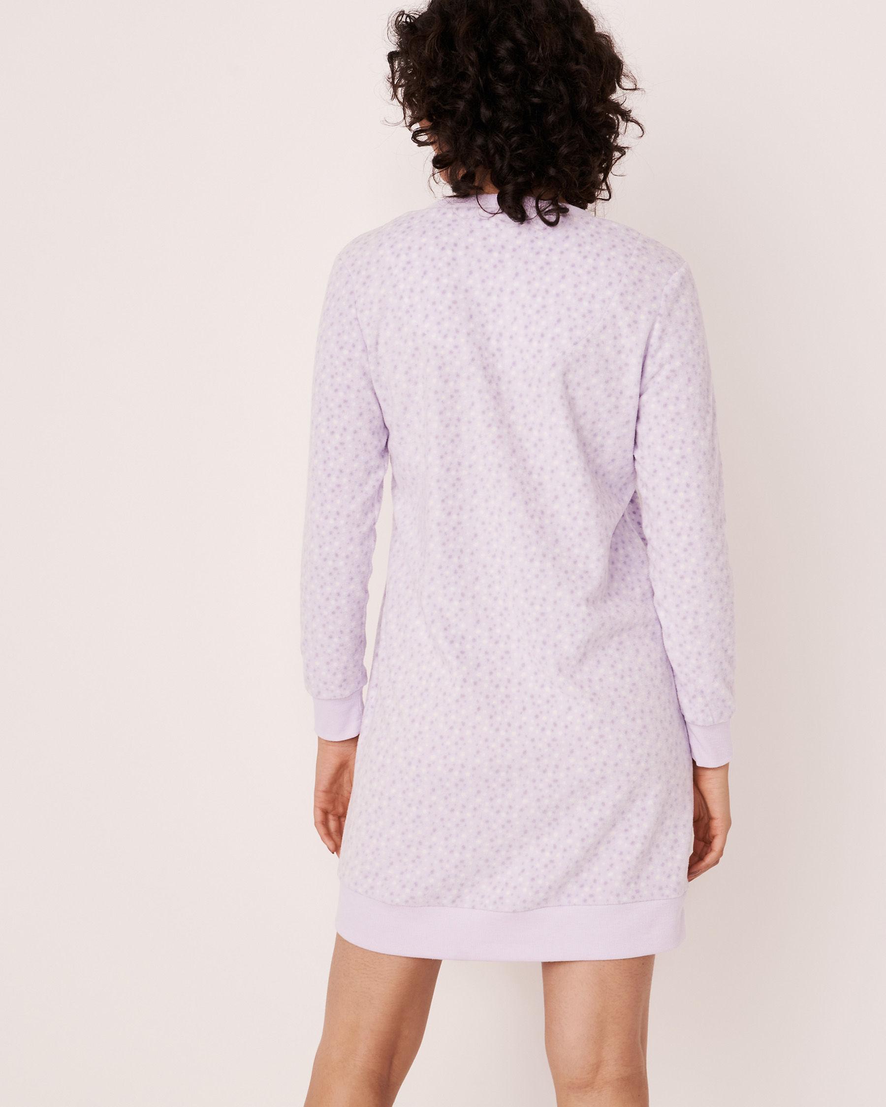 LA VIE EN ROSE Micropolar Long Sleeve Sleepshirt Multi dots 40500098 - View2