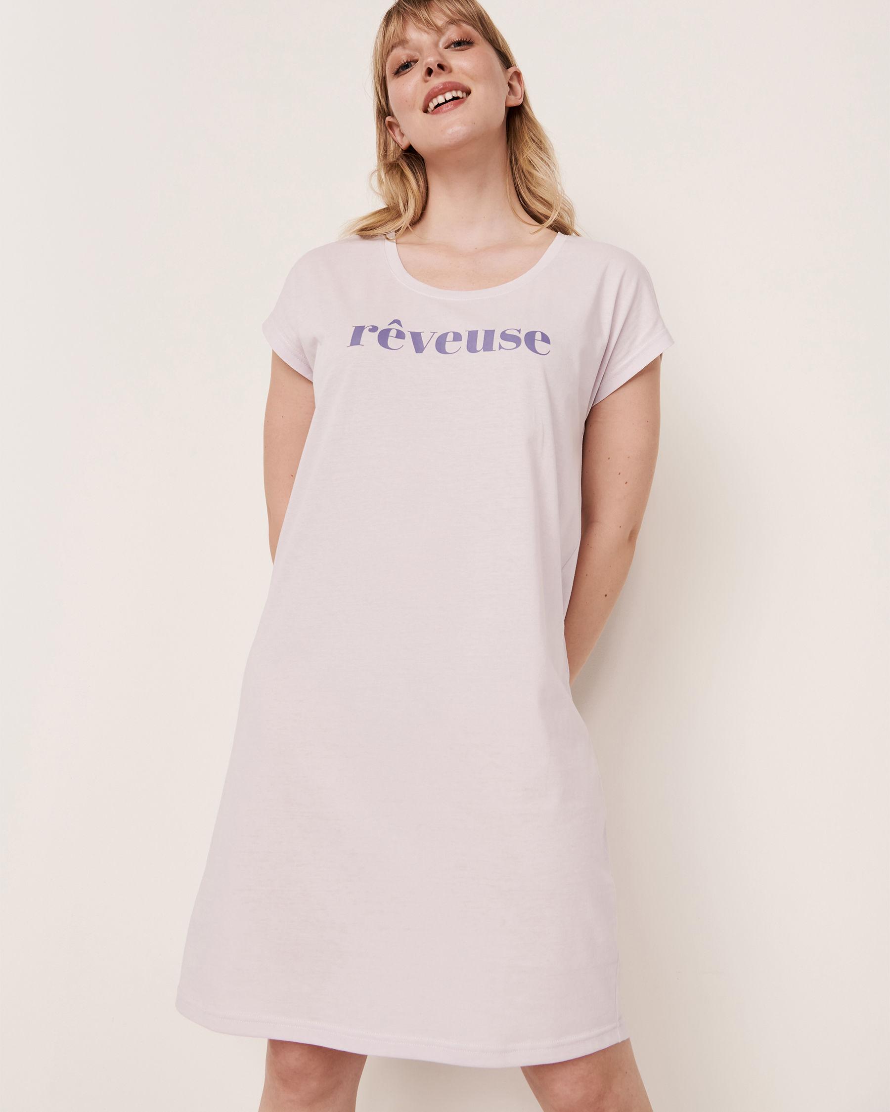LA VIE EN ROSE Scoop Neck Short Sleeve Sleepshirt Lavender 40500104 - View1