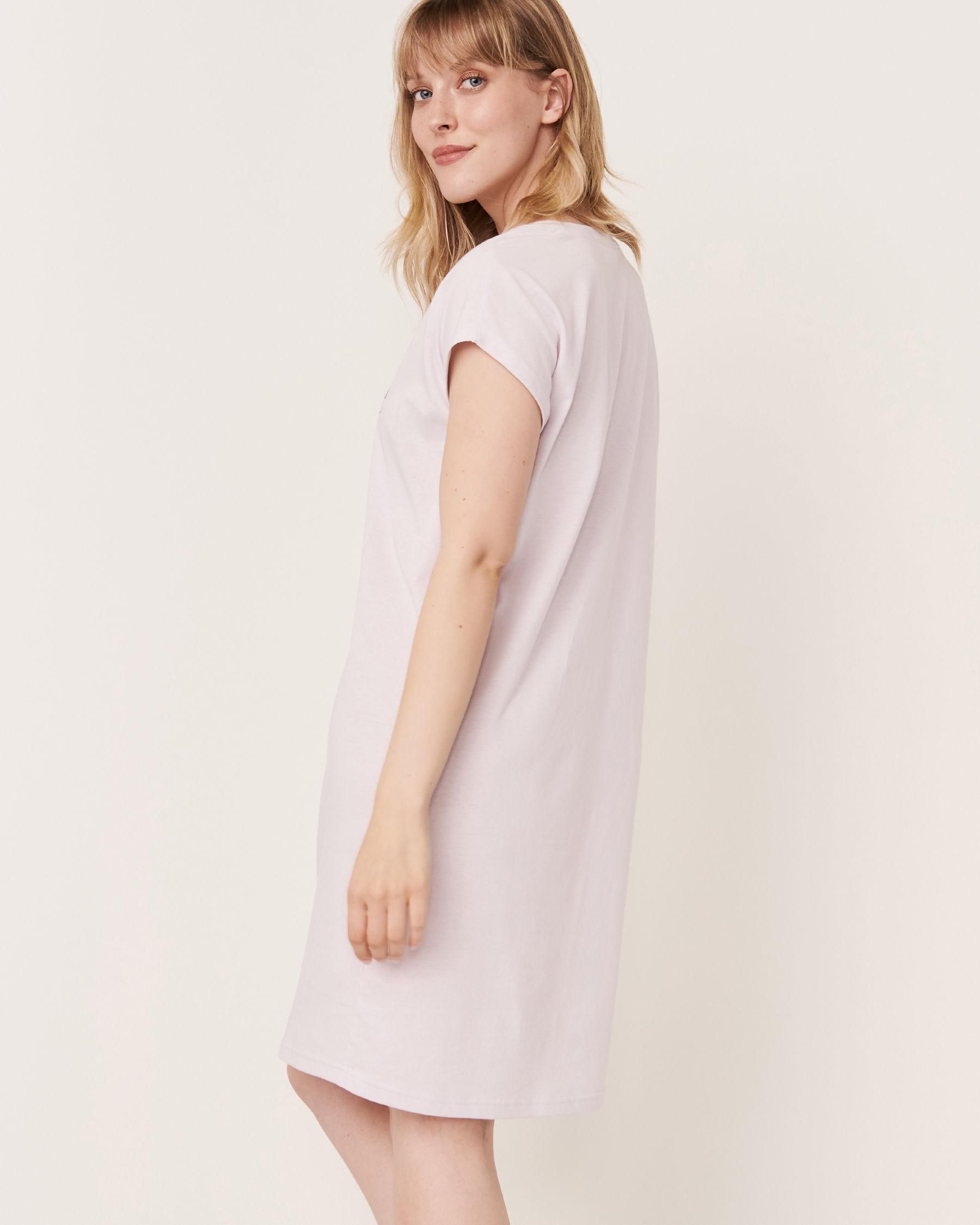 LA VIE EN ROSE Scoop Neck Short Sleeve Sleepshirt Lavender 40500104 - View2
