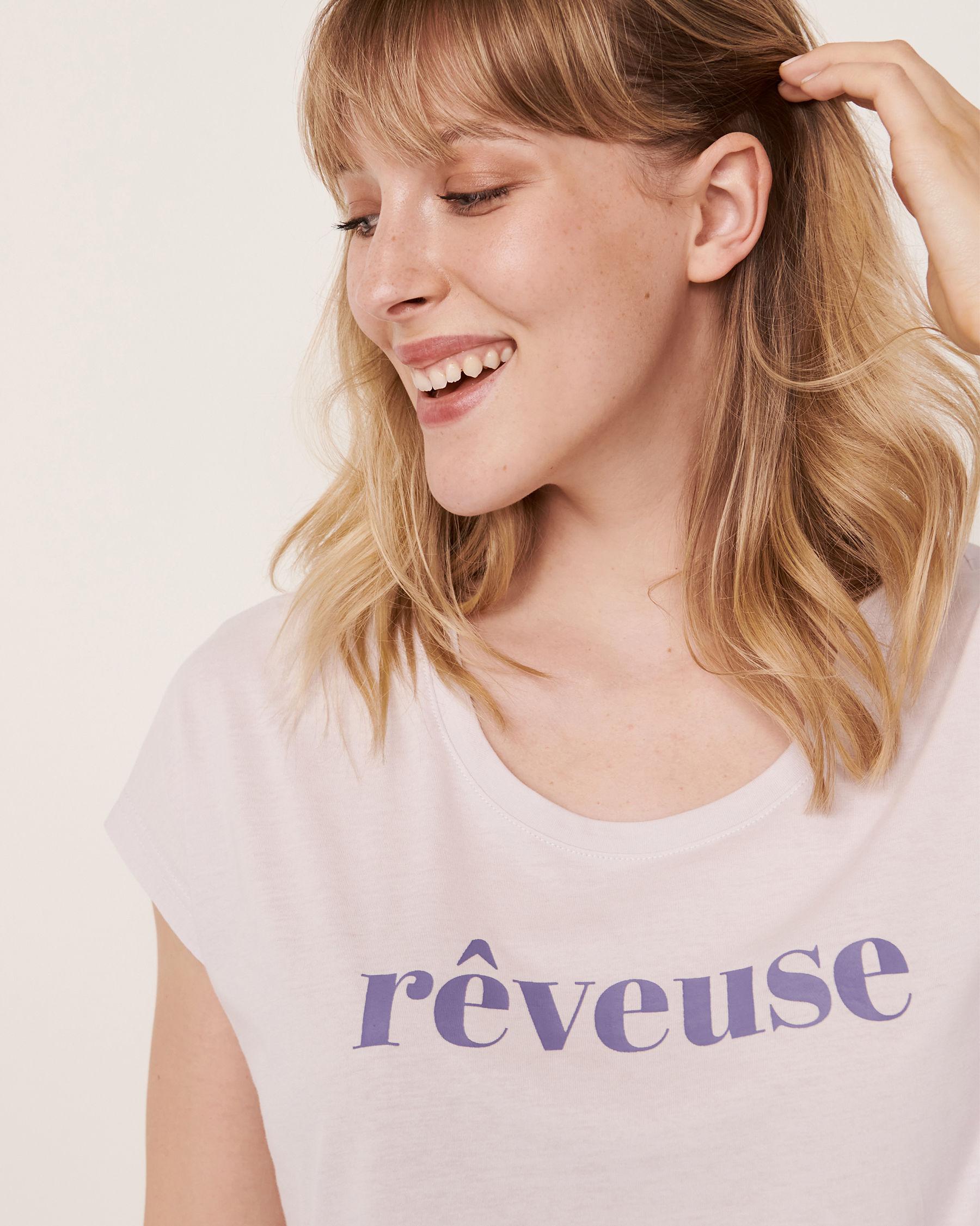 LA VIE EN ROSE Scoop Neck Short Sleeve Sleepshirt Lavender 40500104 - View3