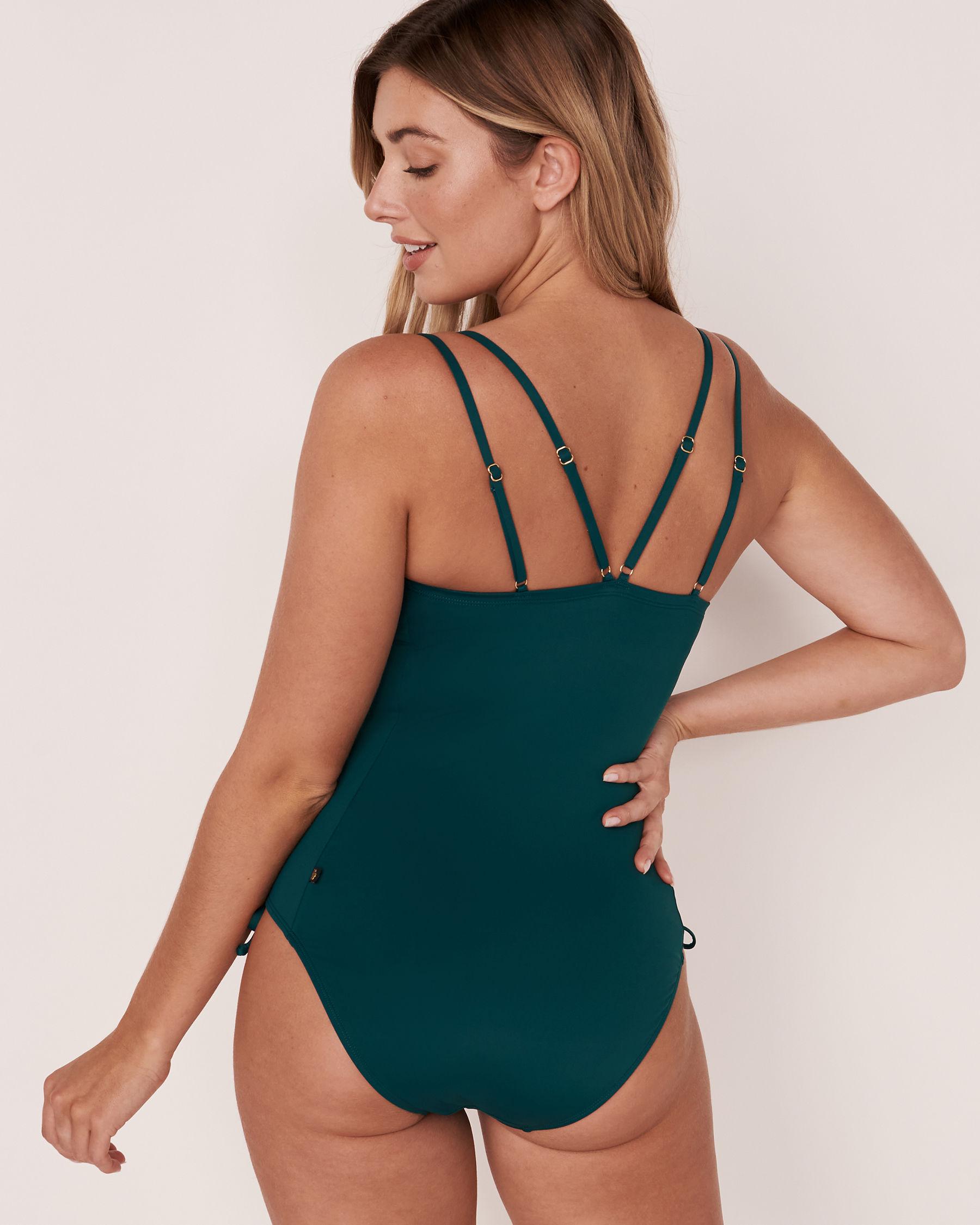 AQUAROSE IVANA Drawstring One-piece Swimsuit Teal 70400014 - View2
