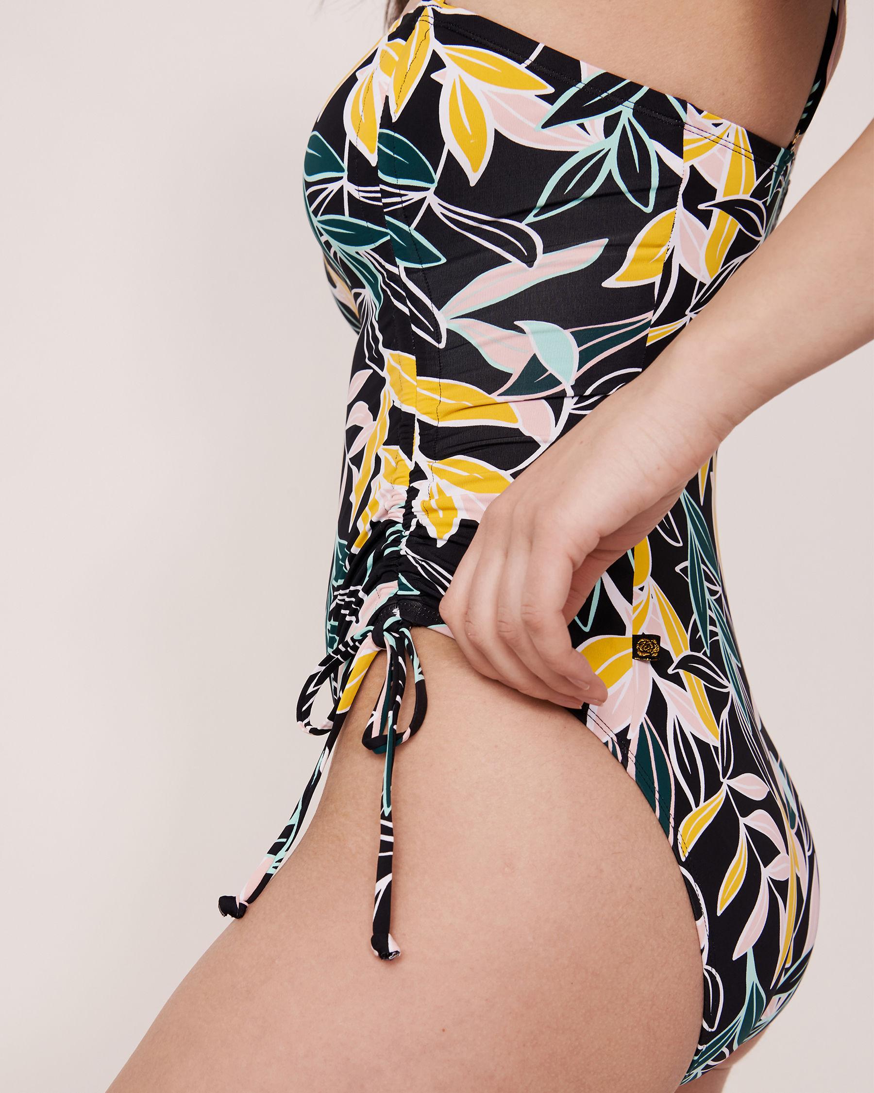 AQUAROSE JUNGLE RAVE Drawstring One-piece Swimsuit Jungle print 70400013 - View3