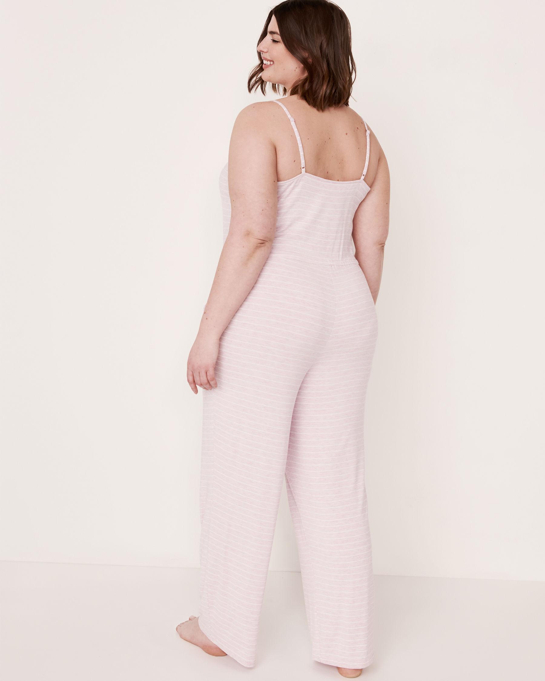 LA VIE EN ROSE Lace Trim Thin Straps Jumpsuit Stripes 50300003 - View2