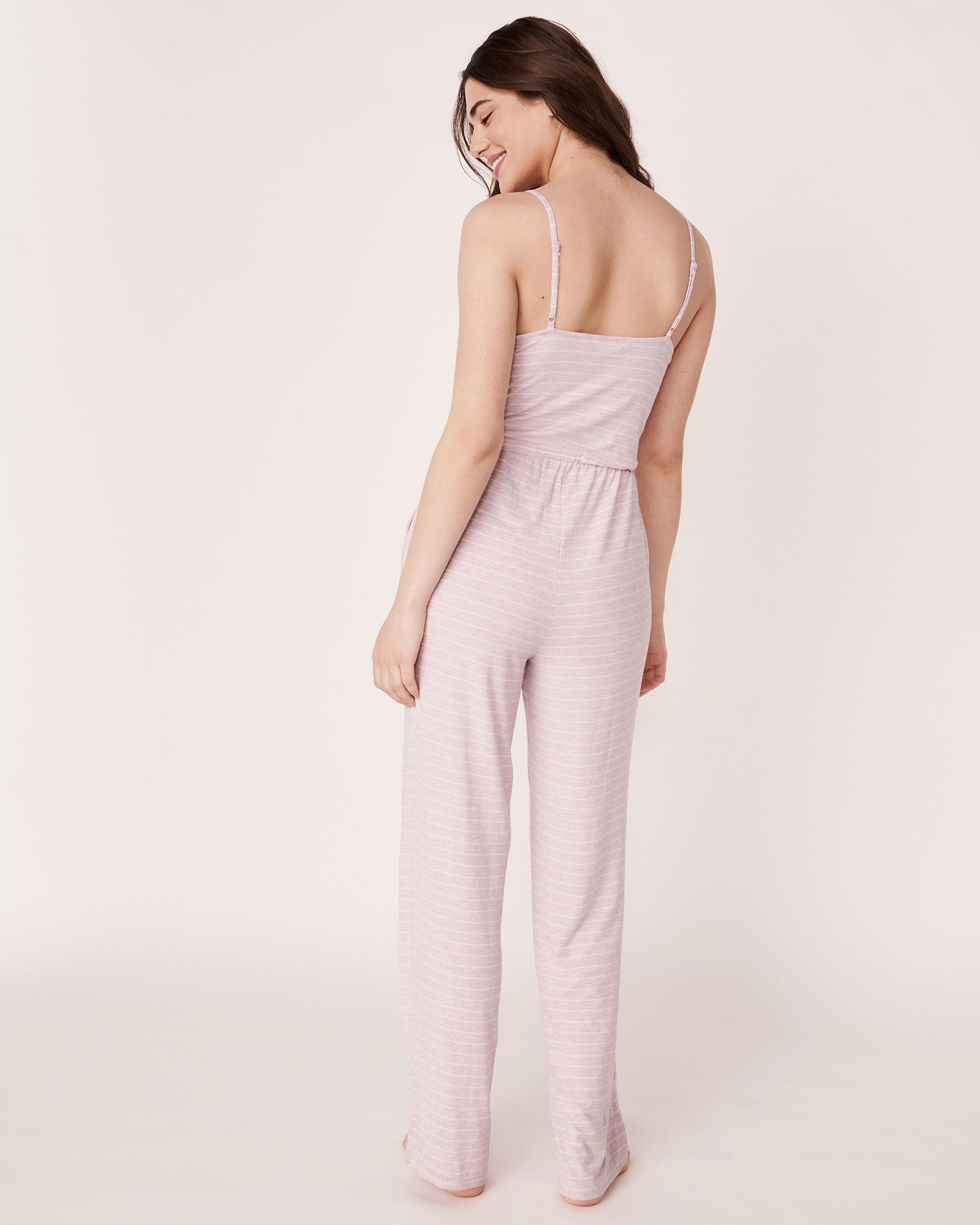 LA VIE EN ROSE Lace Trim Thin Straps Jumpsuit Stripes 50300003 - View4