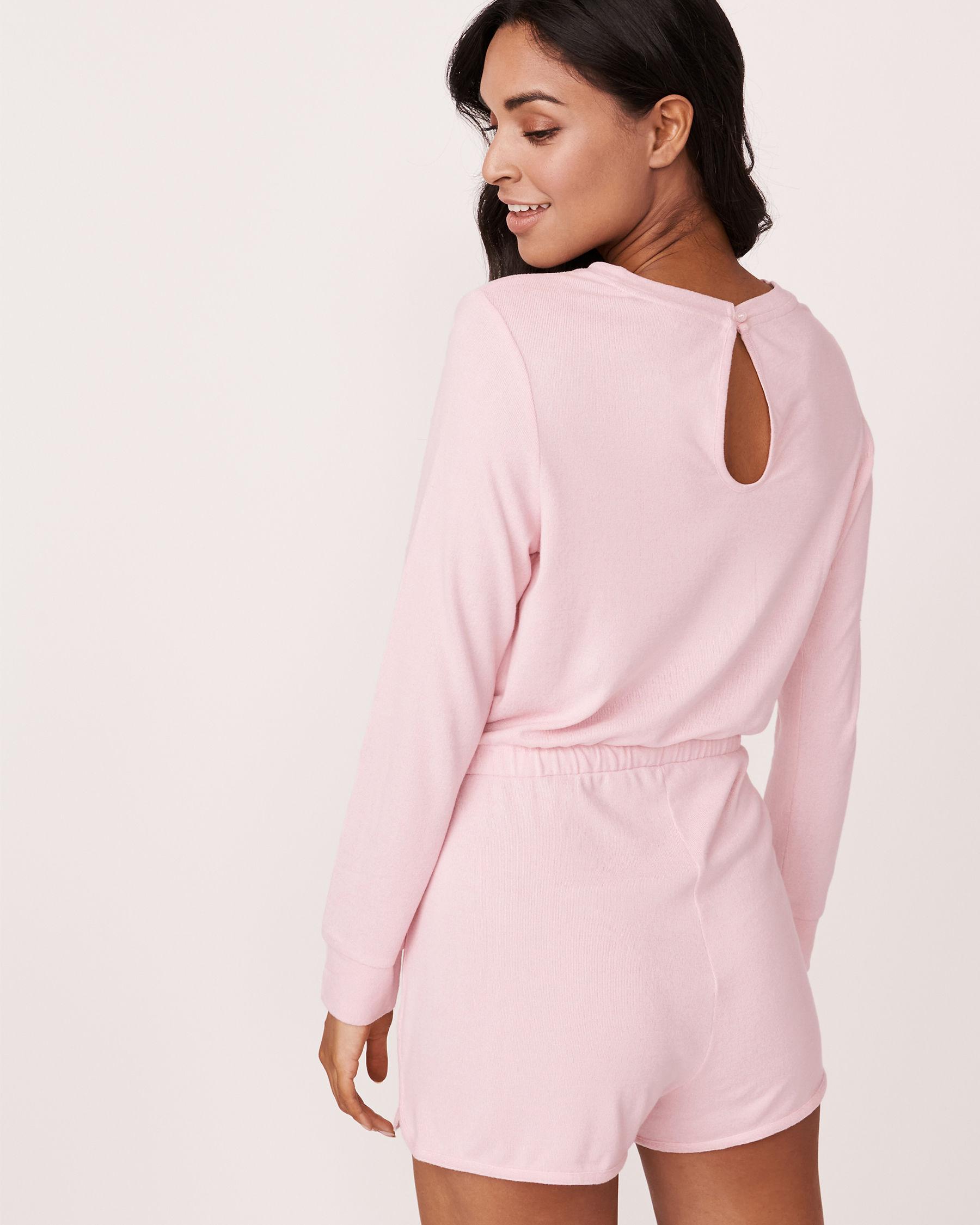 LA VIE EN ROSE Soft Knit Long Sleeves Romper Mix pink 775-312-0-11 - View2