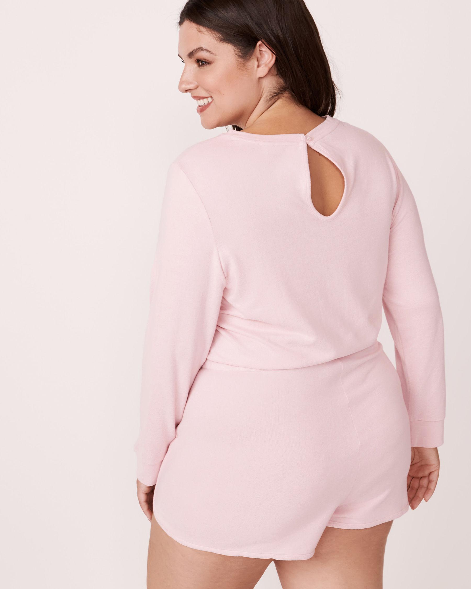 LA VIE EN ROSE Soft Knit Long Sleeves Romper Mix pink 775-312-0-11 - View5