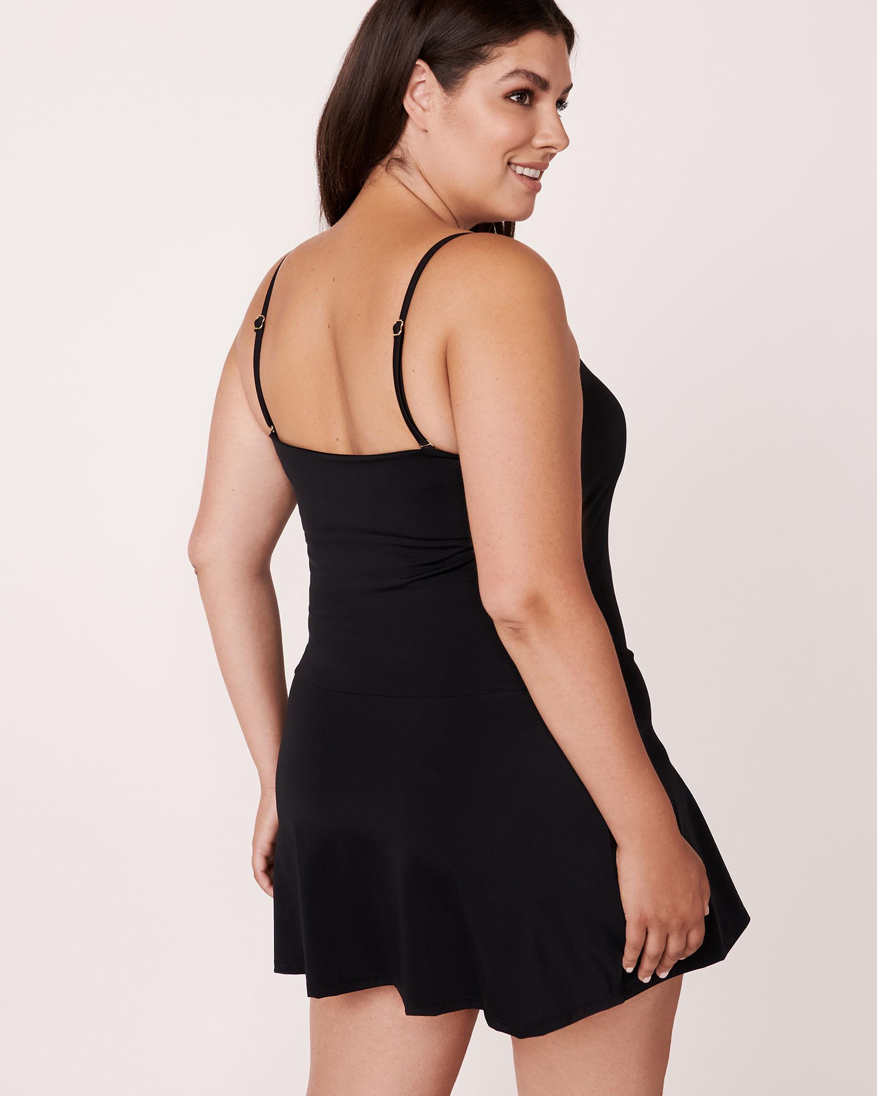 AQUAROSE Maillot une-pièce façon robe Noir 552-632-1-0P - Voir4