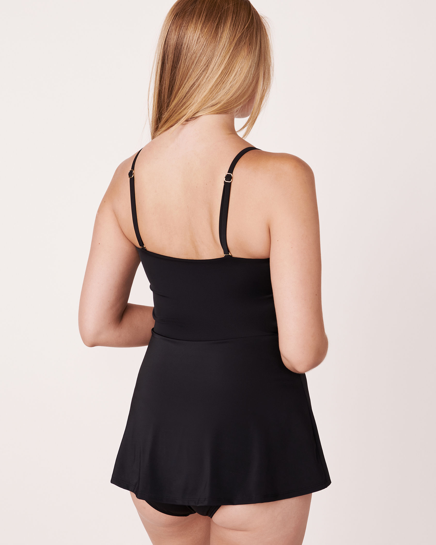 AQUAROSE Maillot une-pièce façon robe Noir 552-632-1-0P - Voir6