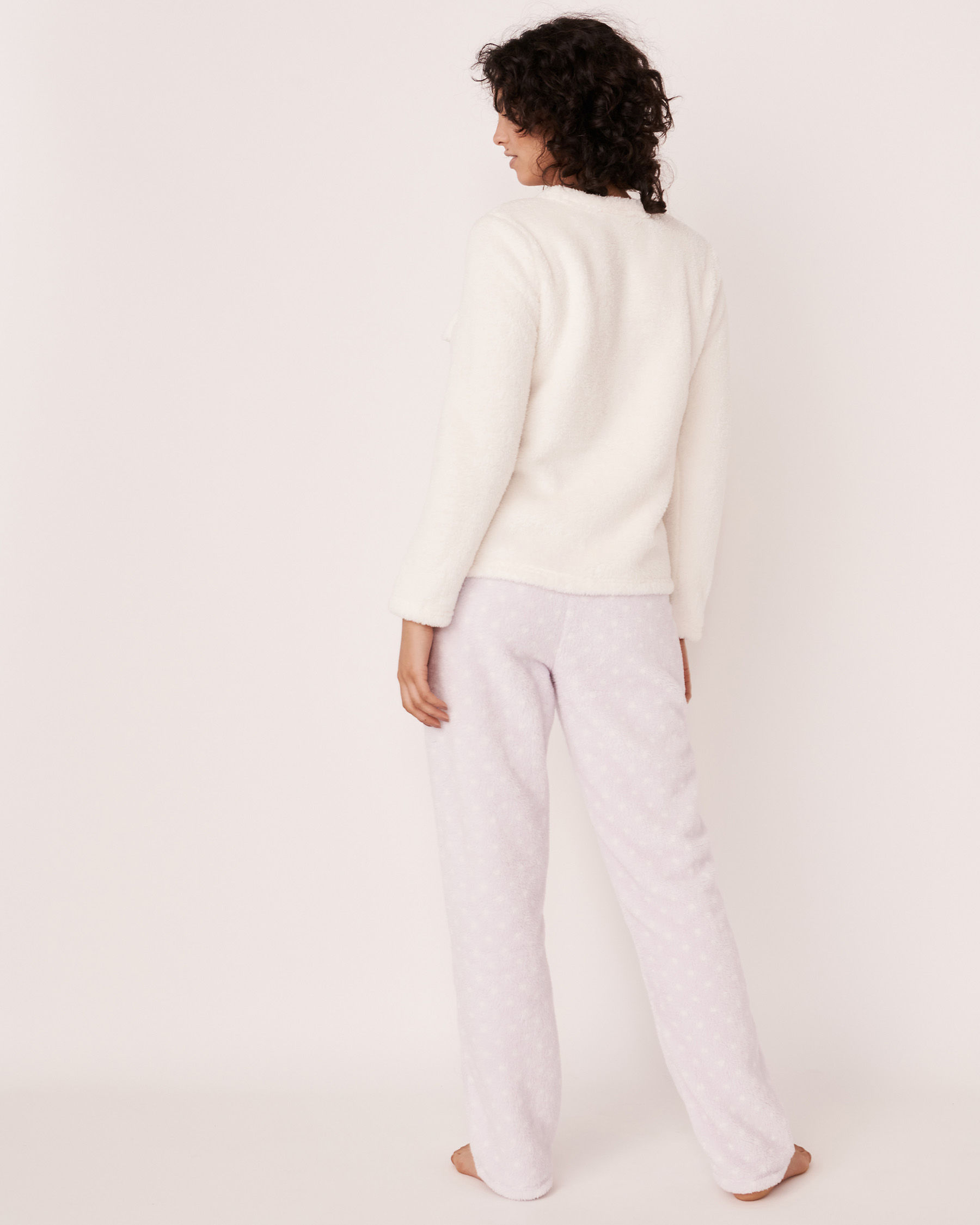 LA VIE EN ROSE Ensemble pyjama mouton 3D Blanc 40400009 - Voir3