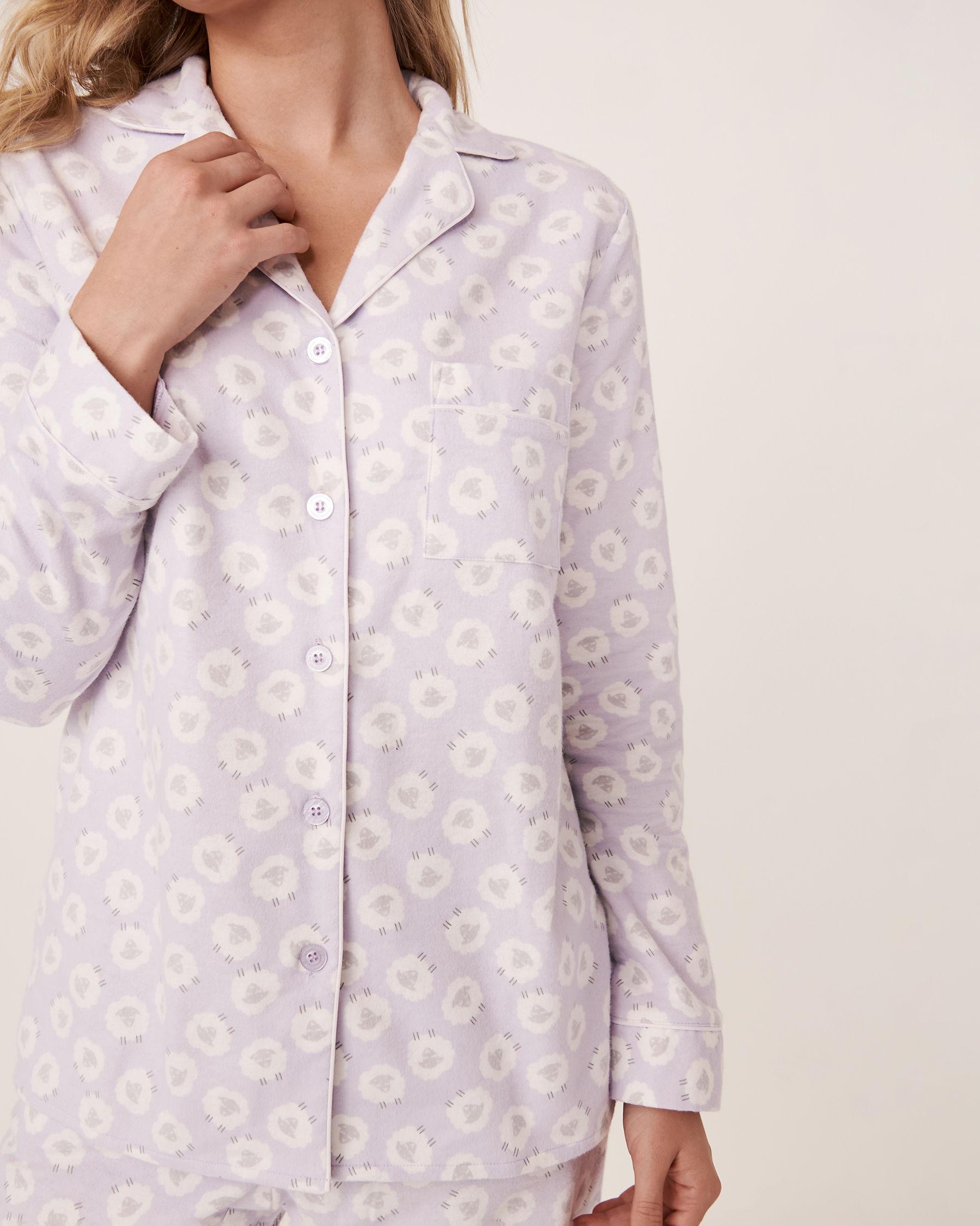 LA VIE EN ROSE Flannel PJ Set Sheep 40400012 - View1