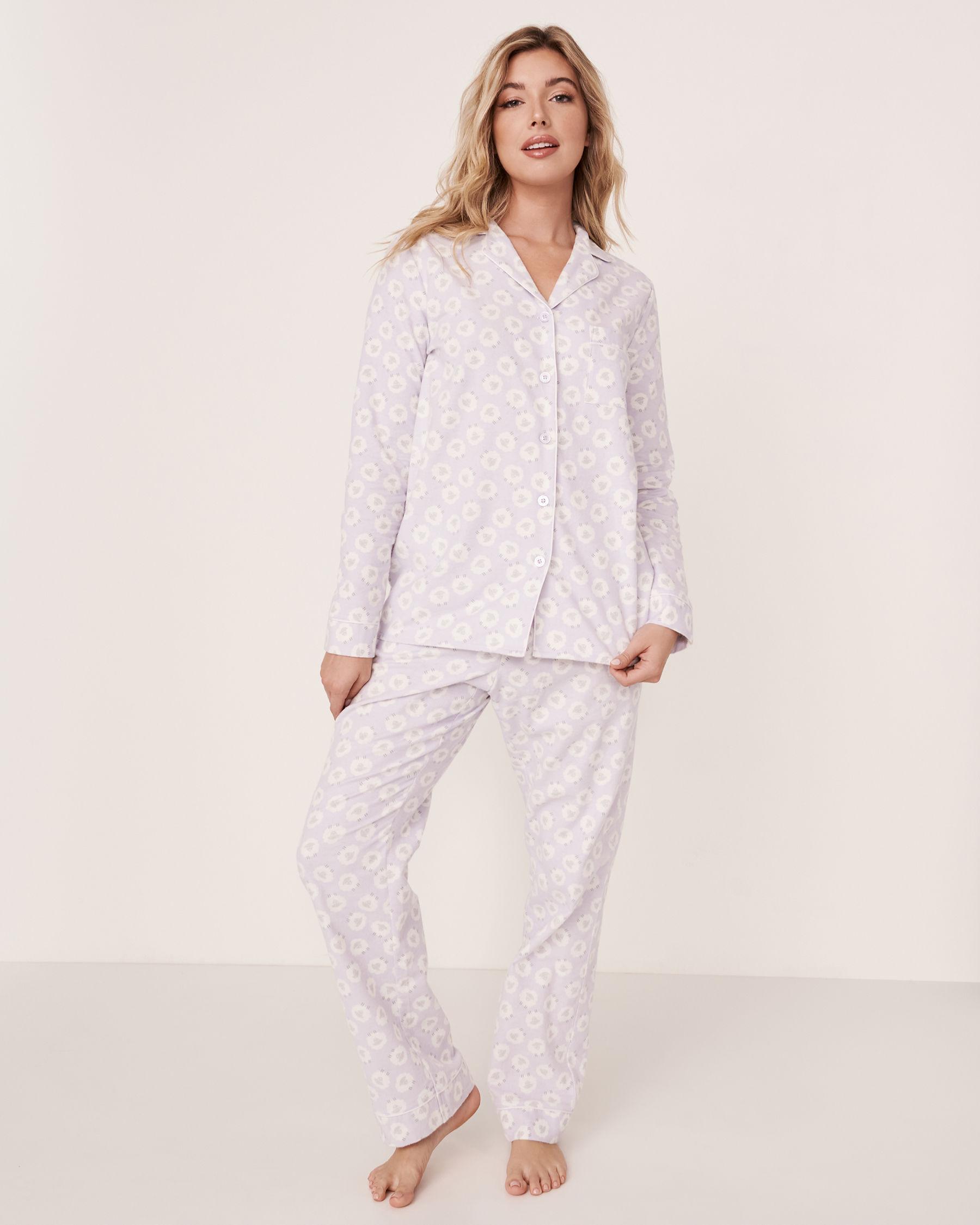 LA VIE EN ROSE Flannel PJ Set Sheep 40400012 - View2