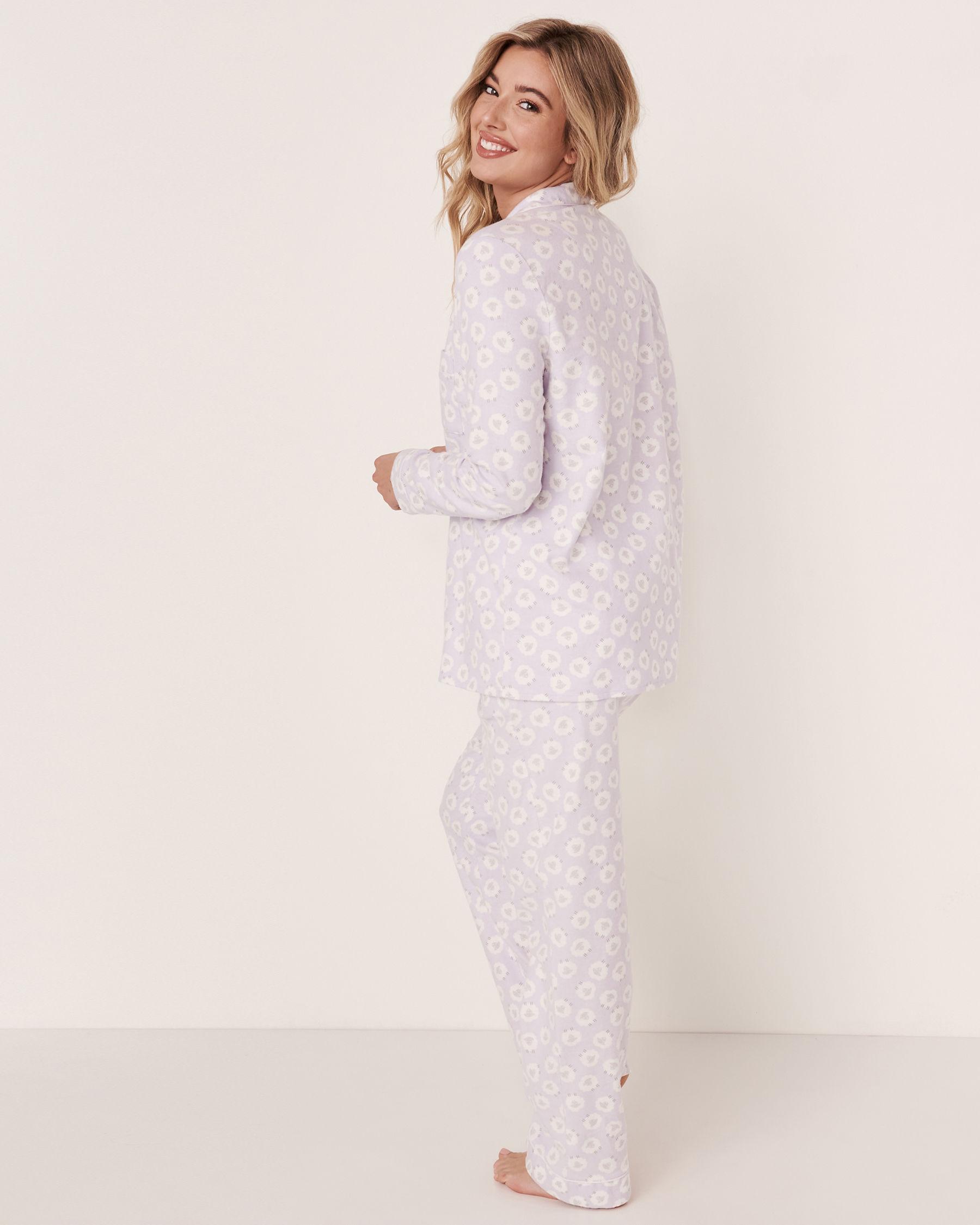 LA VIE EN ROSE Flannel PJ Set Sheep 40400012 - View3