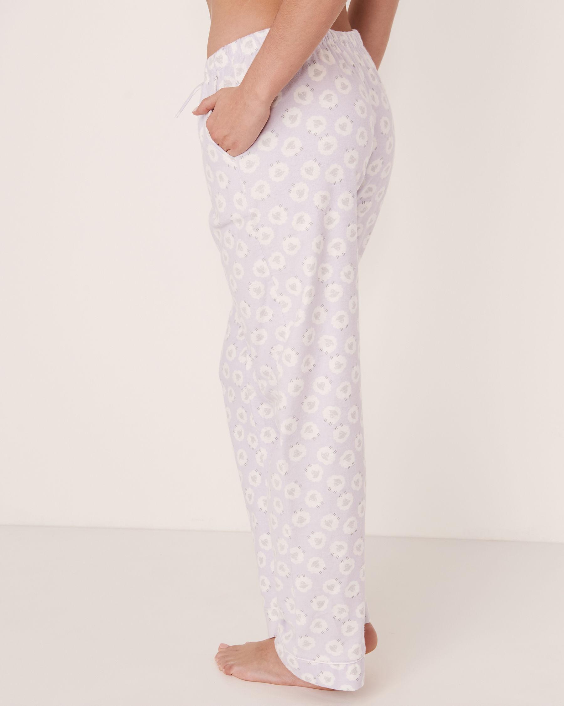 LA VIE EN ROSE Flannel PJ Set Sheep 40400012 - View5