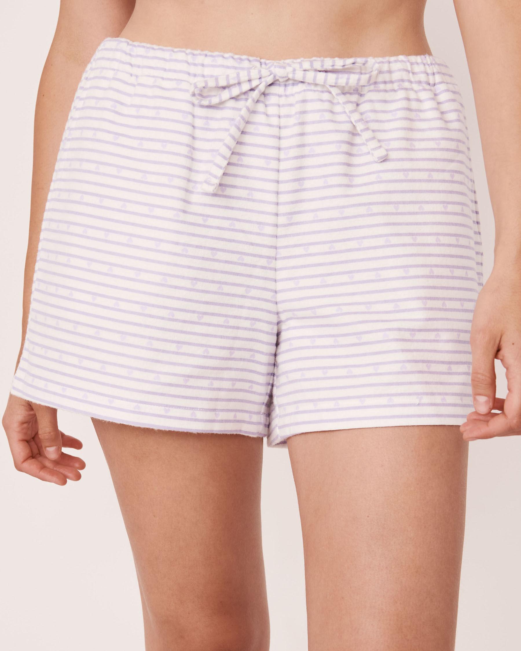 LA VIE EN ROSE Flannel Short PJ Set Stripes 40400011 - View4