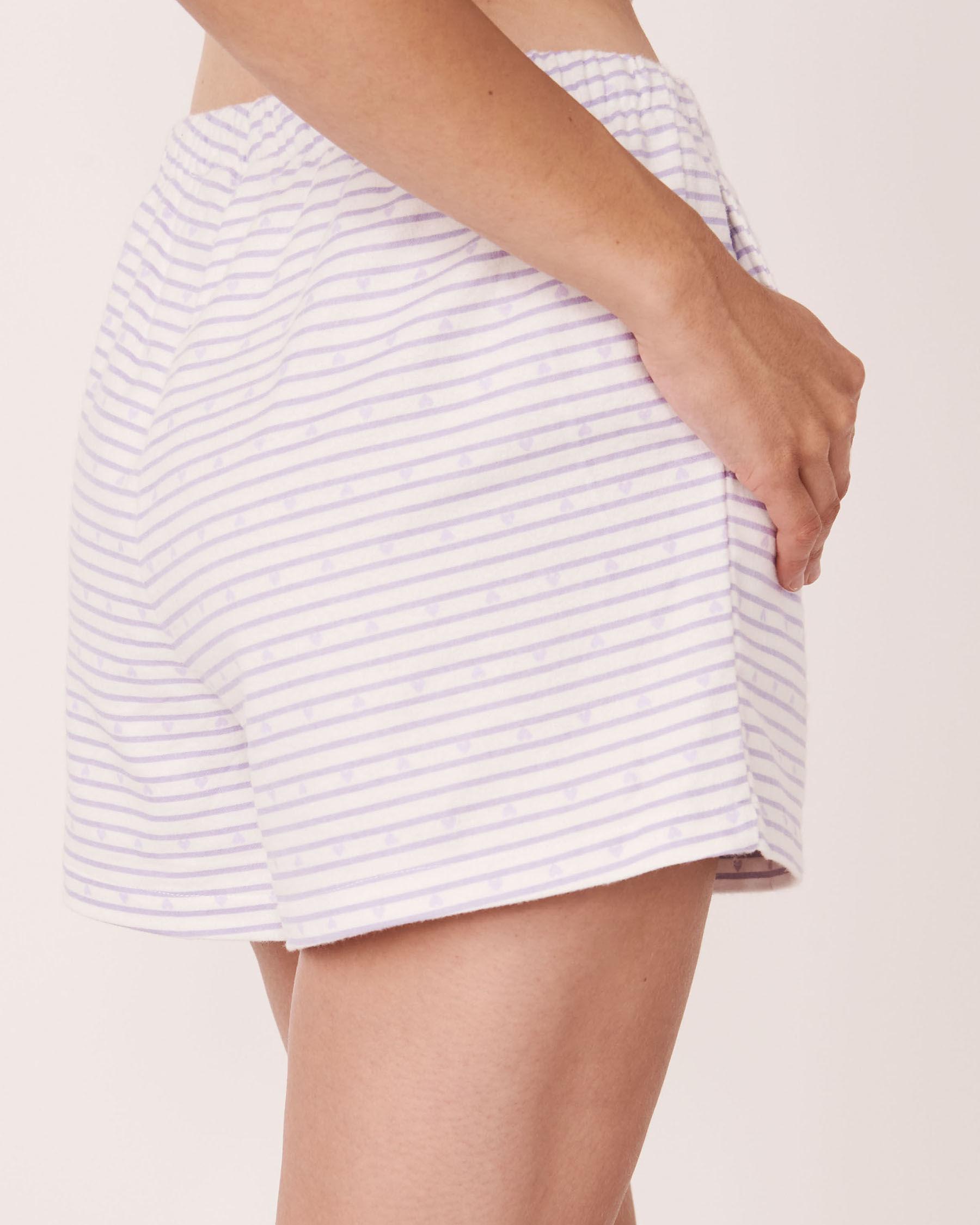 LA VIE EN ROSE Flannel Short PJ Set Stripes 40400011 - View5