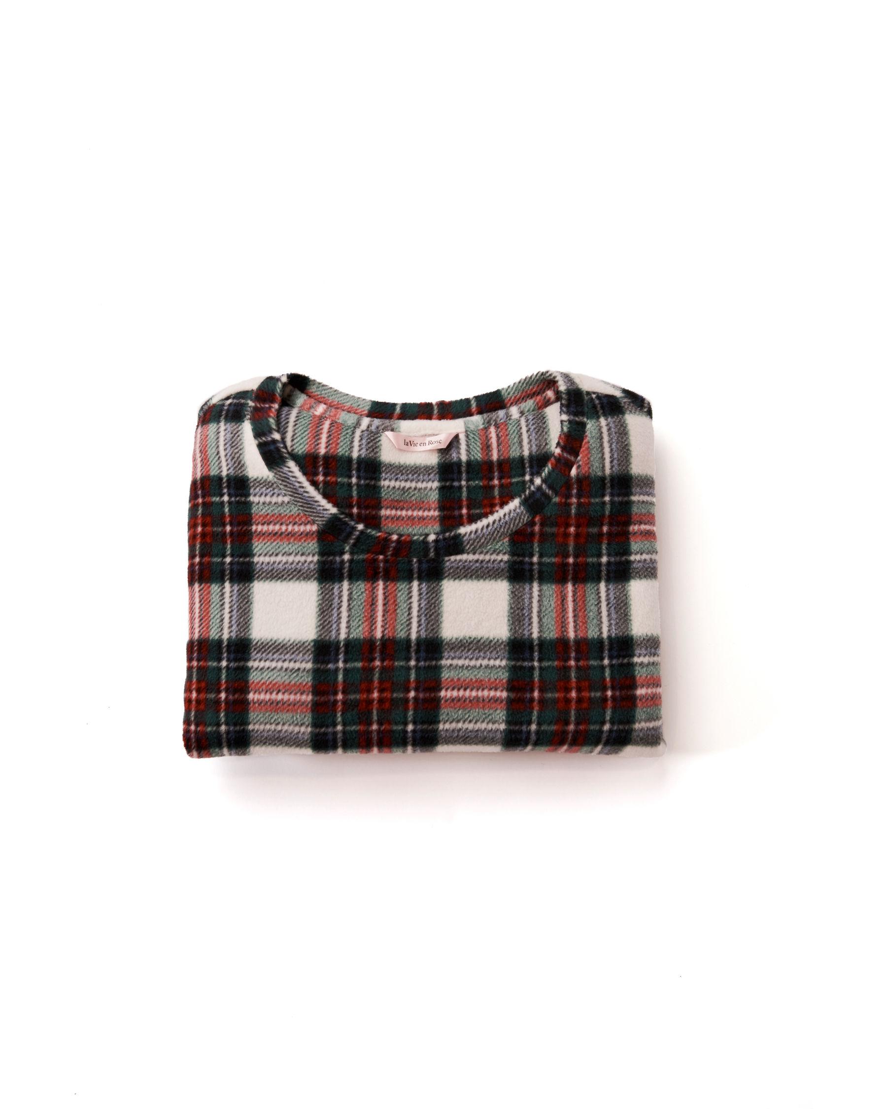 LA VIE EN ROSE Ensemble pyjama en micropolaire Tartan blanc 263-310-0-09 - Voir6