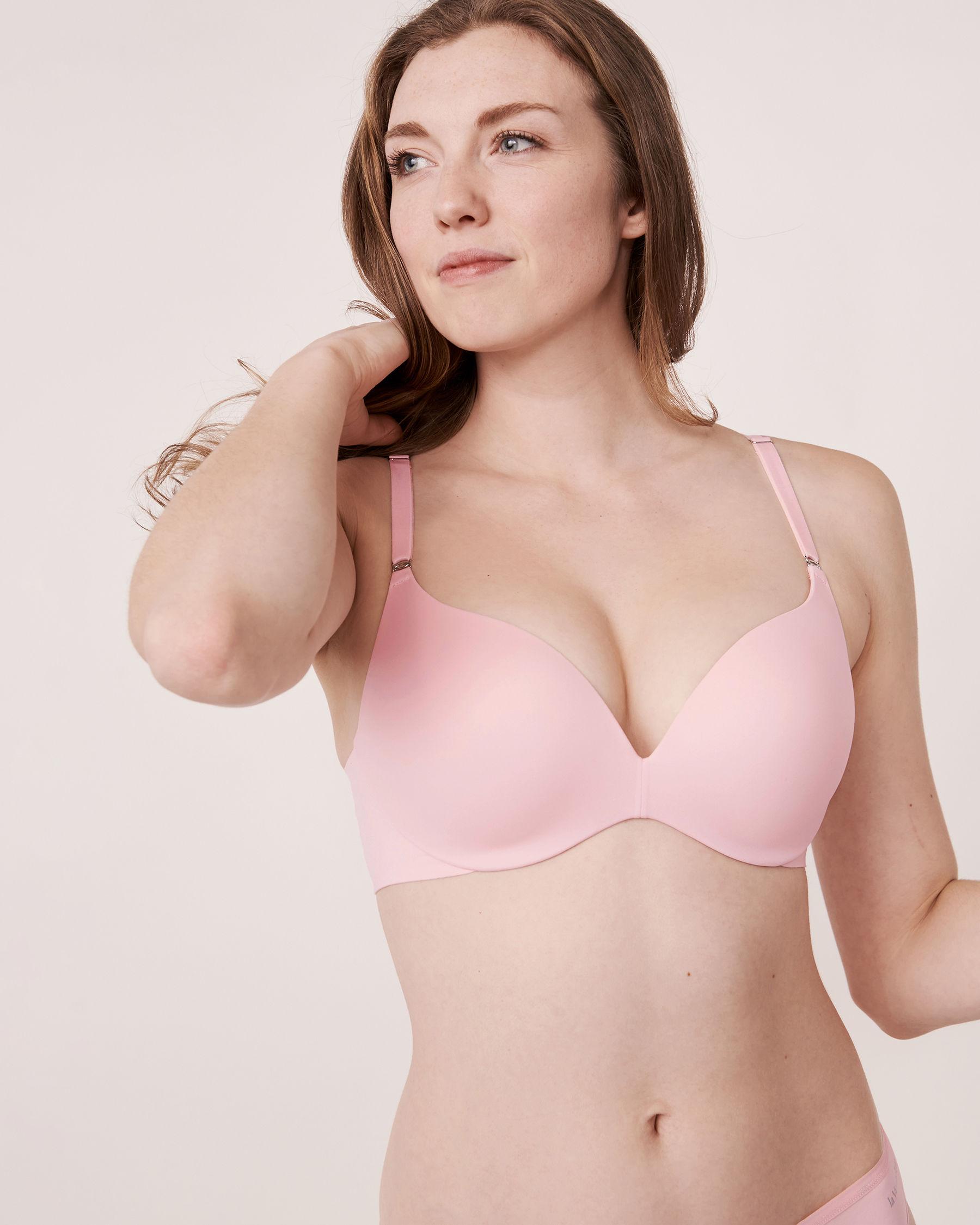 LA VIE EN ROSE Push-up Wireless Sleek Back Bra Pink 10300014 - View1