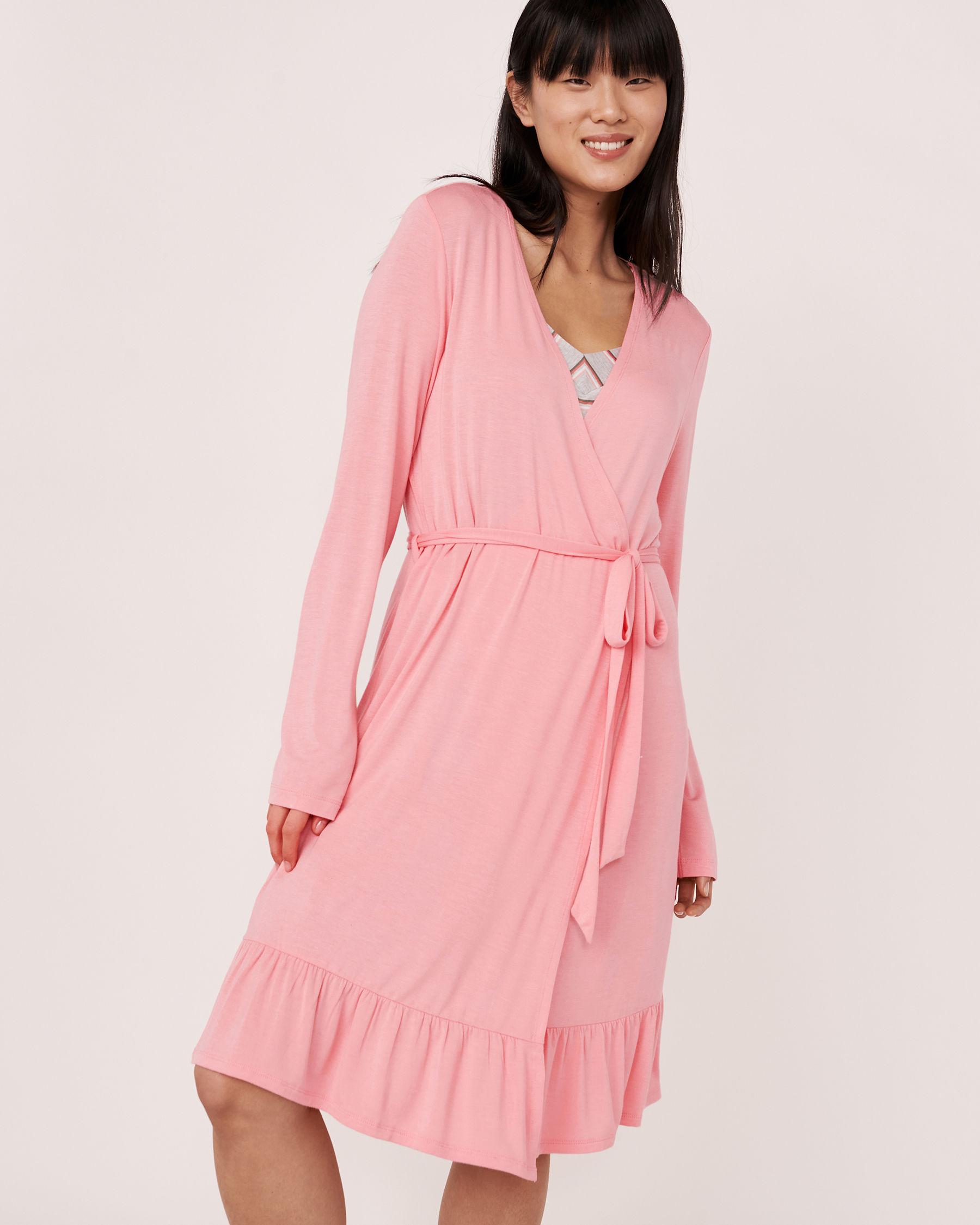 LA VIE EN ROSE Ruffle Details Robe Pink 40600007 - View1