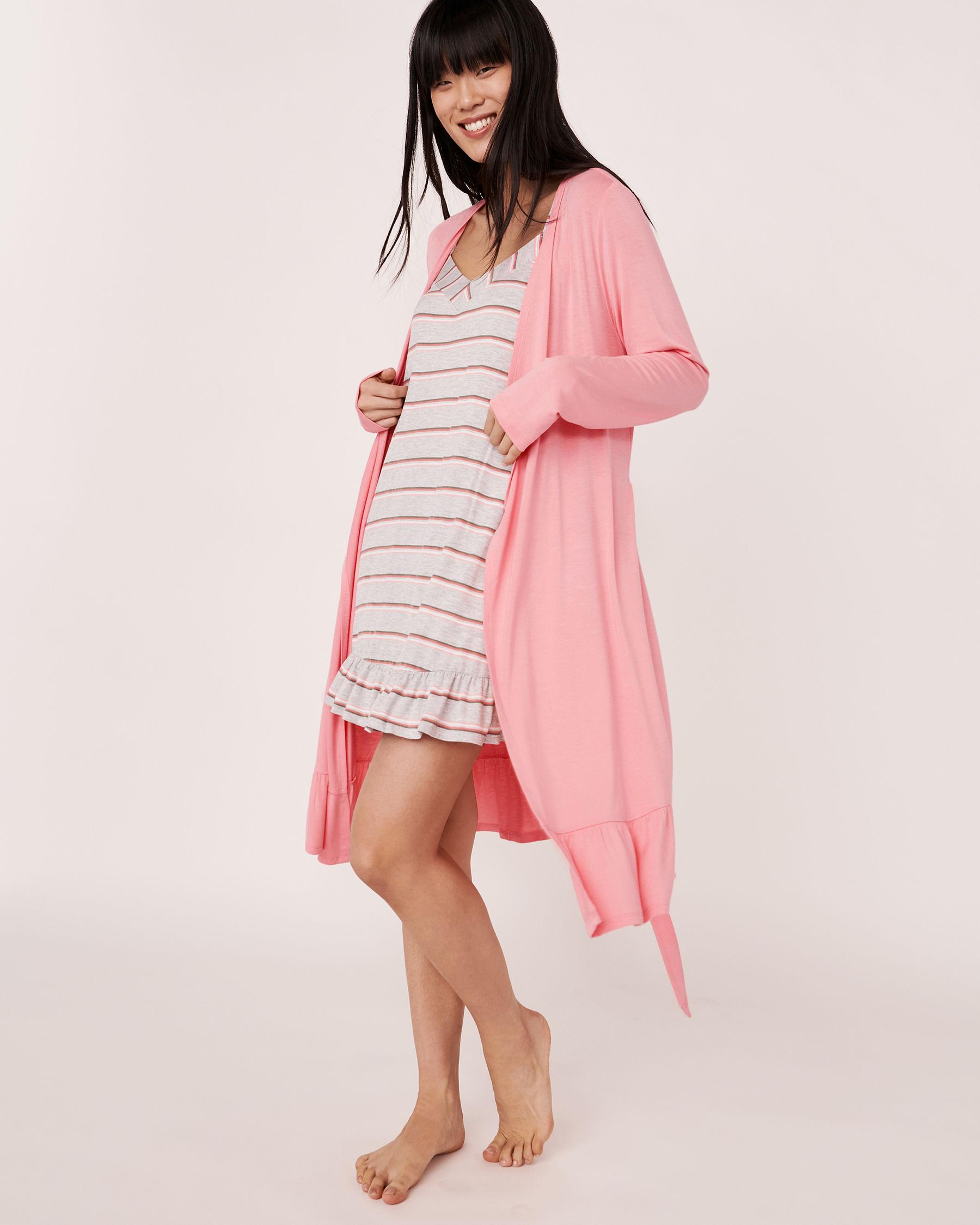 LA VIE EN ROSE Ruffle Details Robe Pink 40600007 - View3