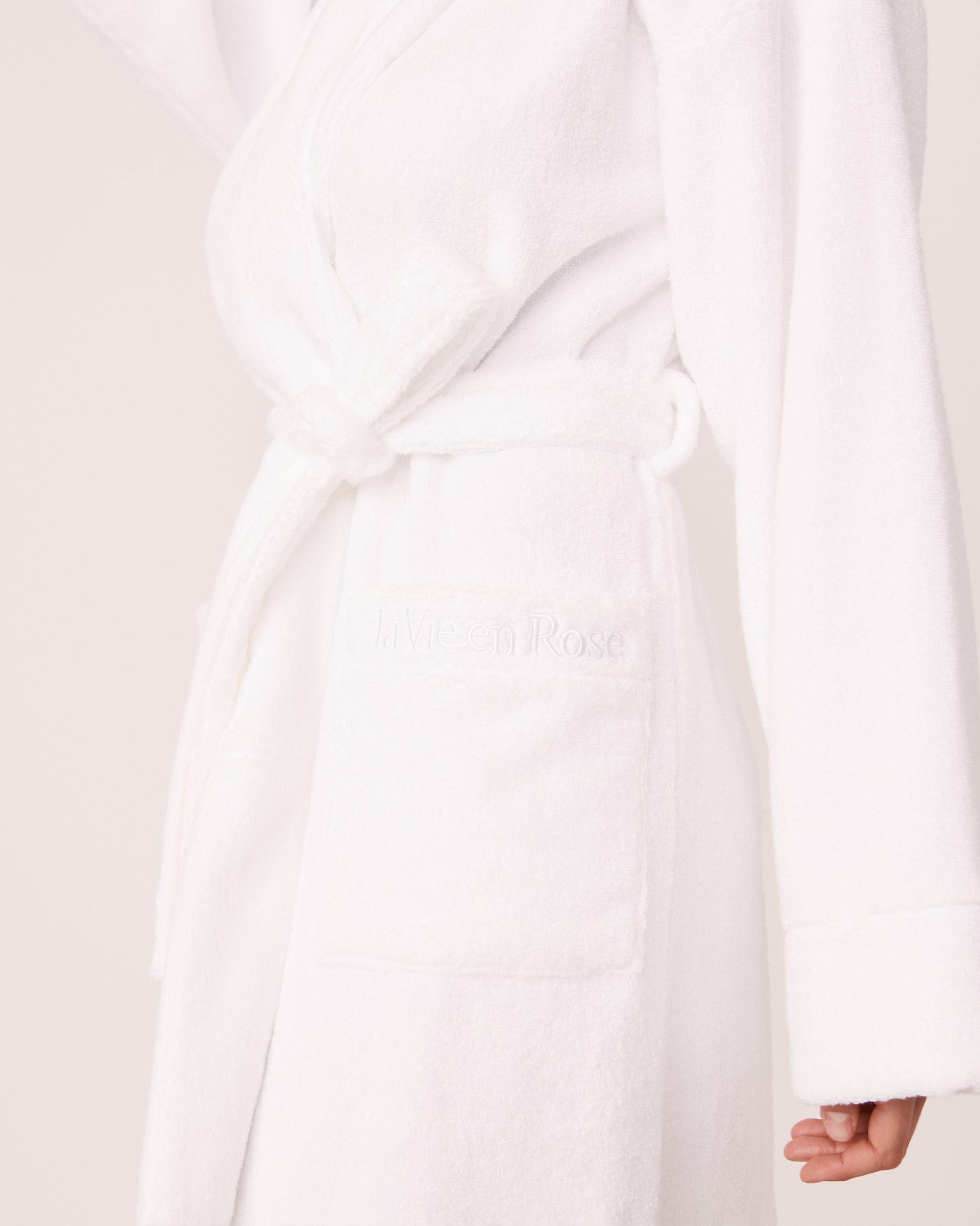 LA VIE EN ROSE Terry Spa Robe White 40600028 - View6