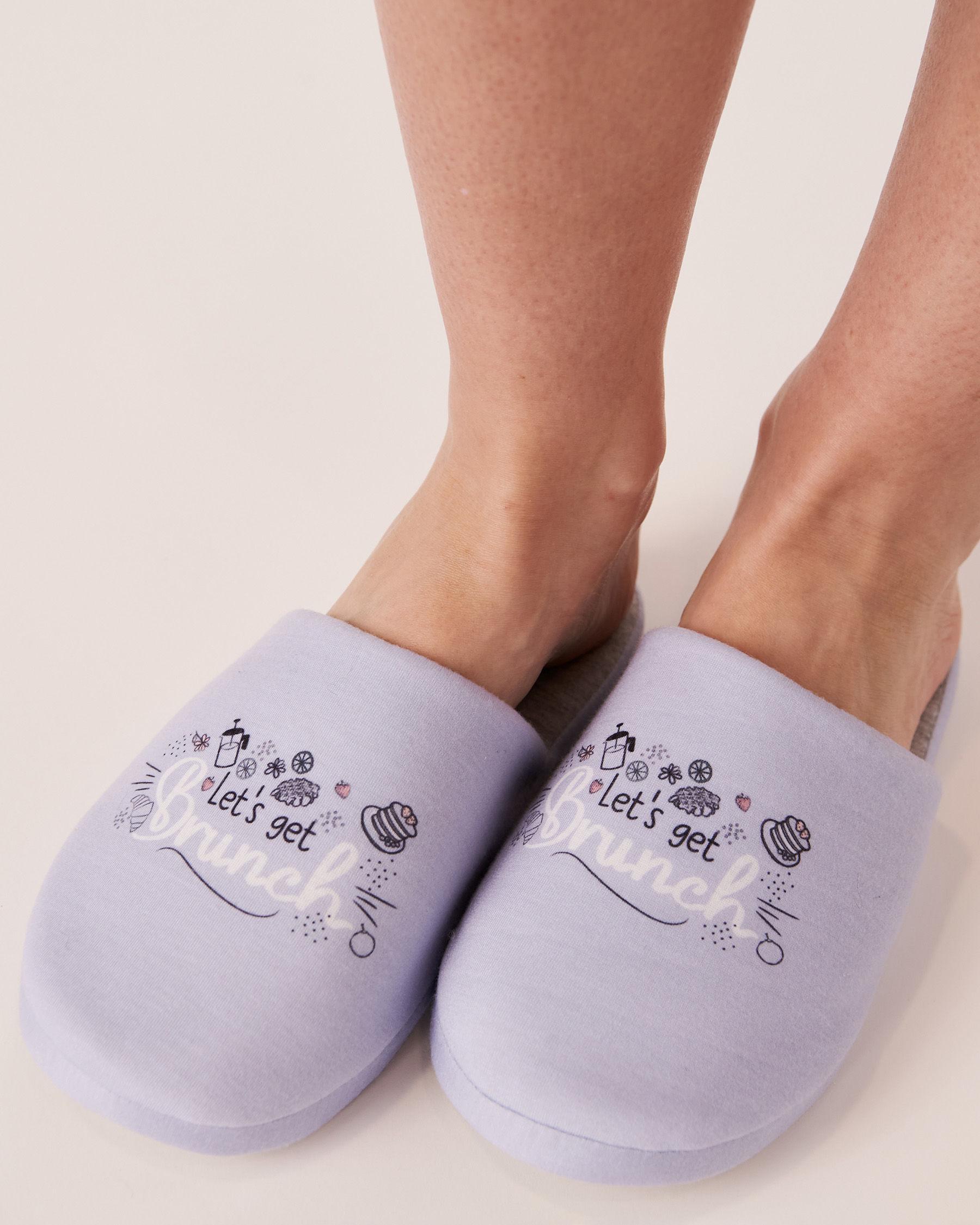 LA VIE EN ROSE Clog Slippers Blue 40700051 - View1