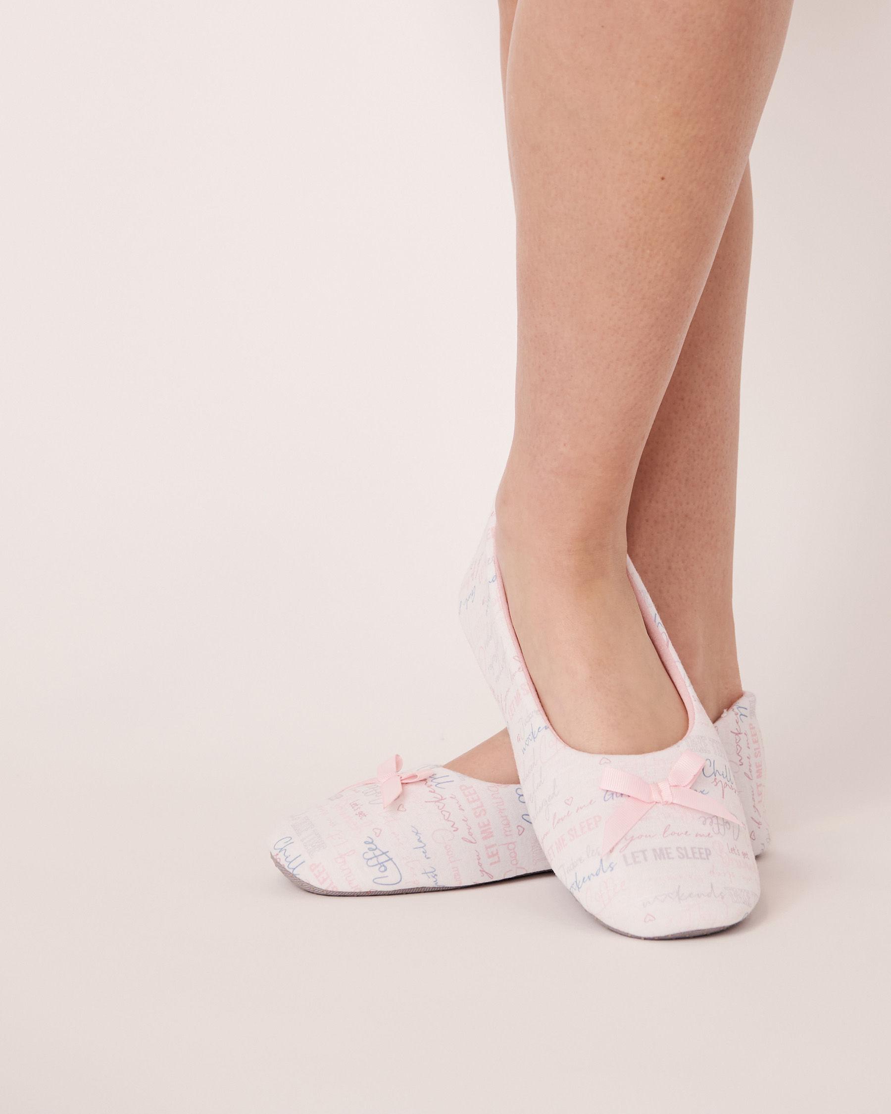 LA VIE EN ROSE Ballerina Slippers Words 40700052 - View3