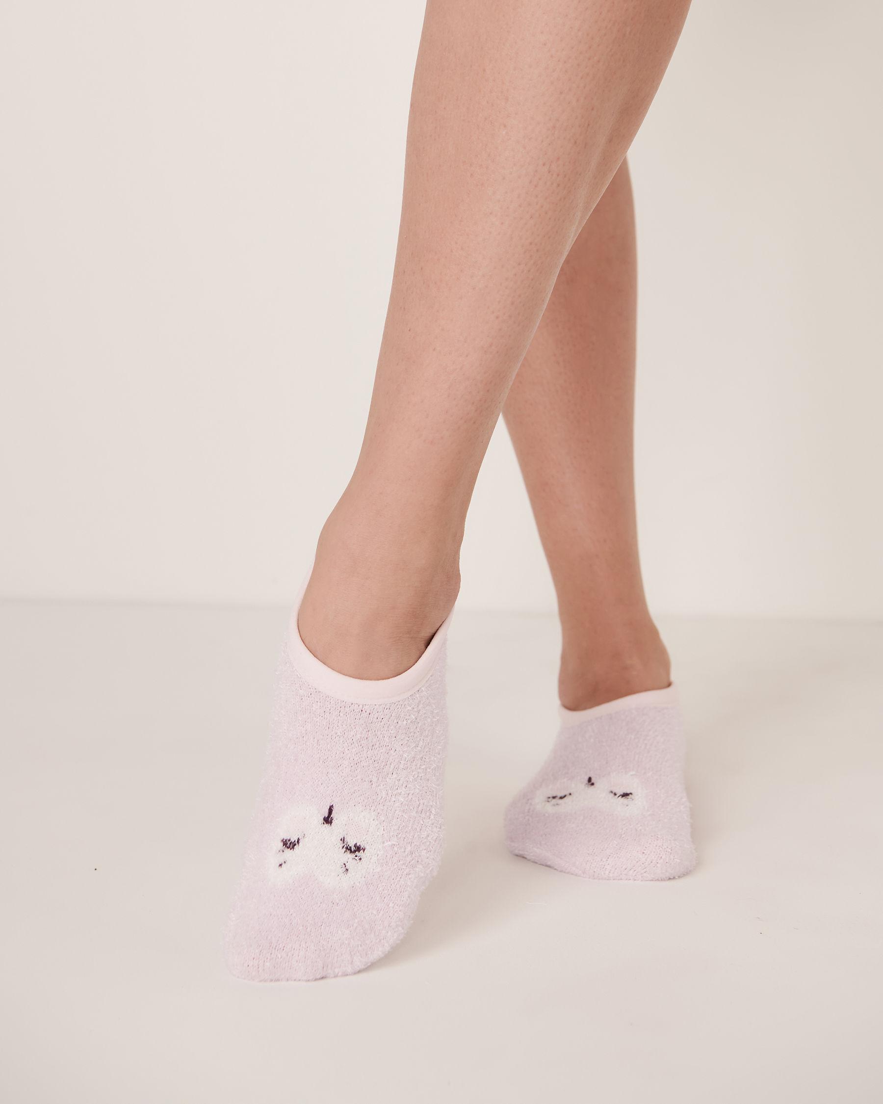 LA VIE EN ROSE Chenille Slipper Socks Lilac 40700015 - View1