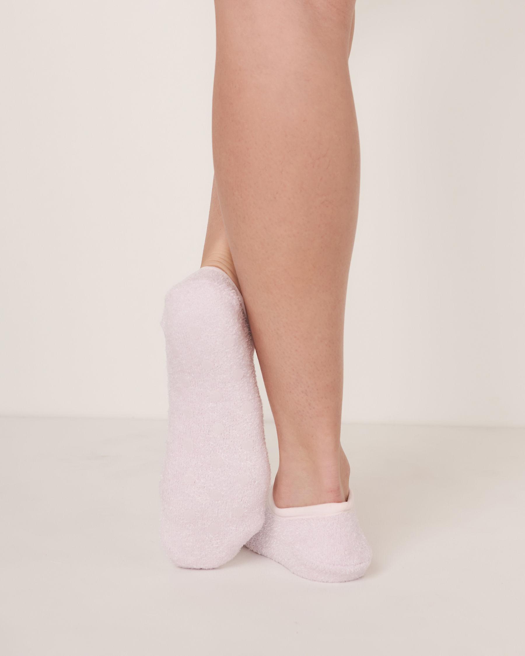 LA VIE EN ROSE Chenille Slipper Socks Lilac 40700015 - View2