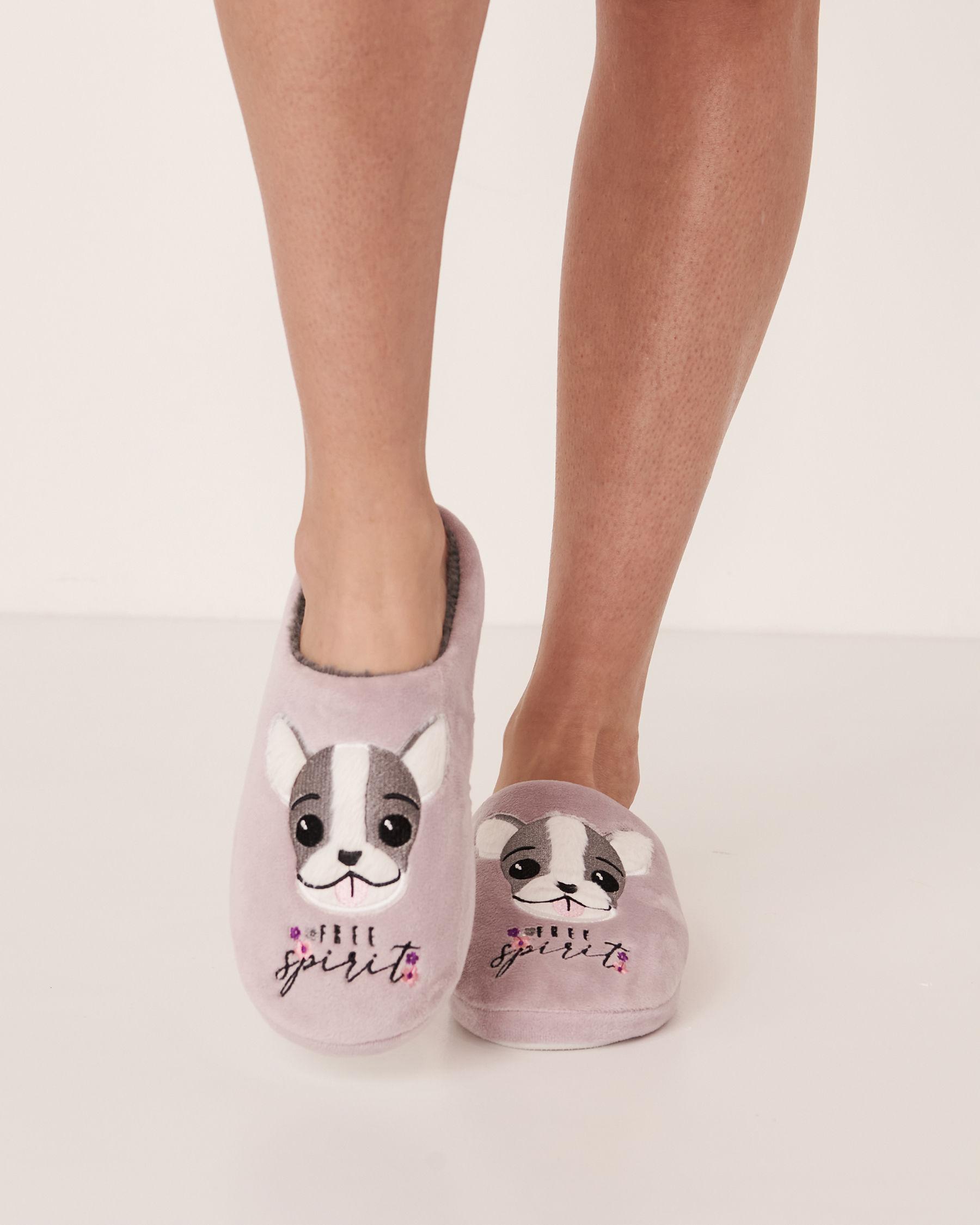 LA VIE EN ROSE Clog Slippers Lilac 40700018 - View1