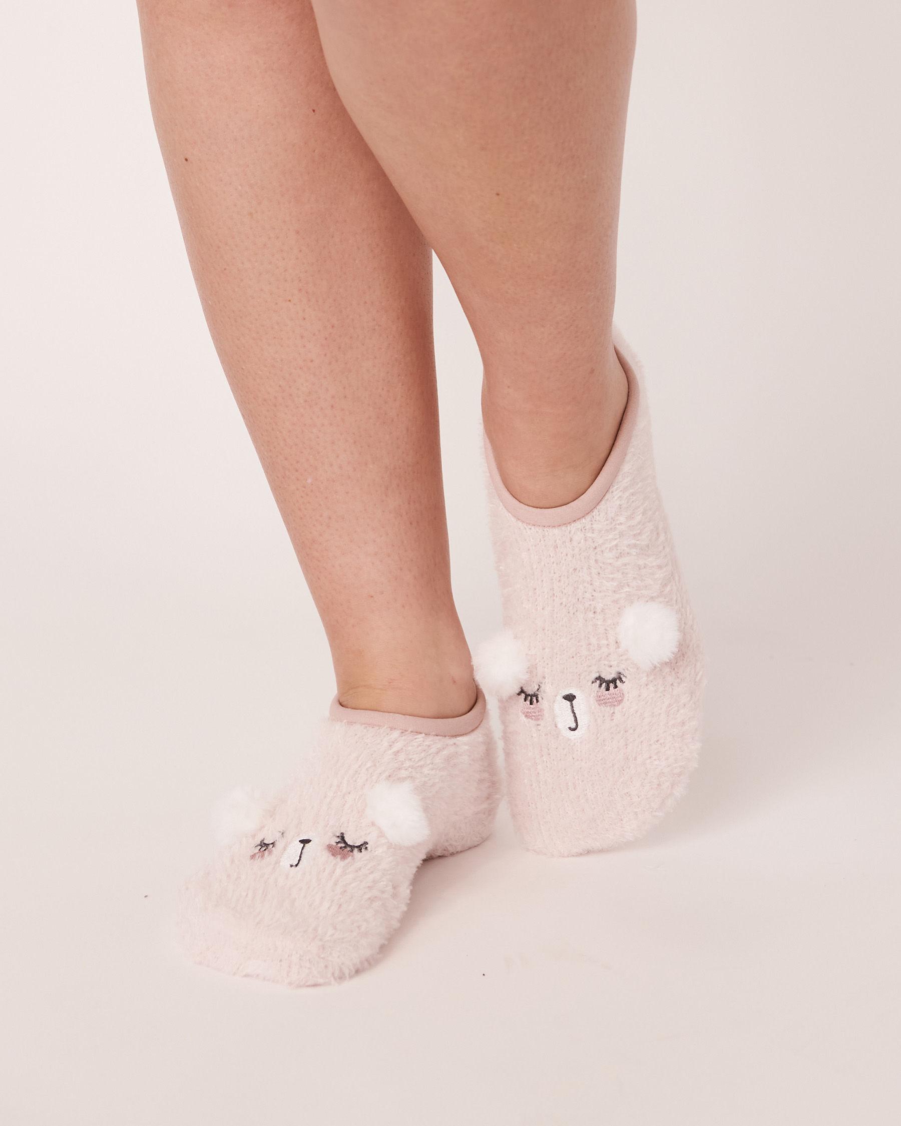 LA VIE EN ROSE Embroidery Slippers Socks Light pink 40700083 - View1