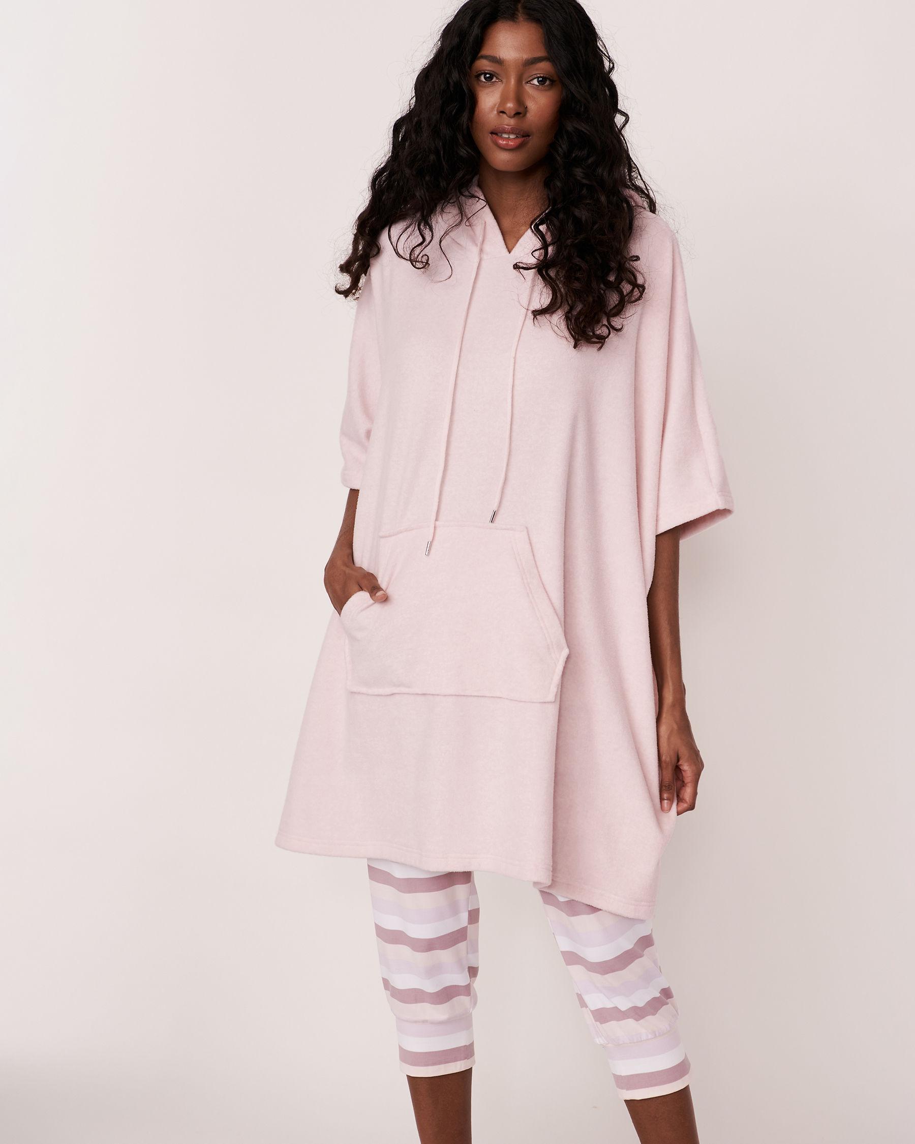 LA VIE EN ROSE Hooded Poncho Grey mix 40700020 - View1
