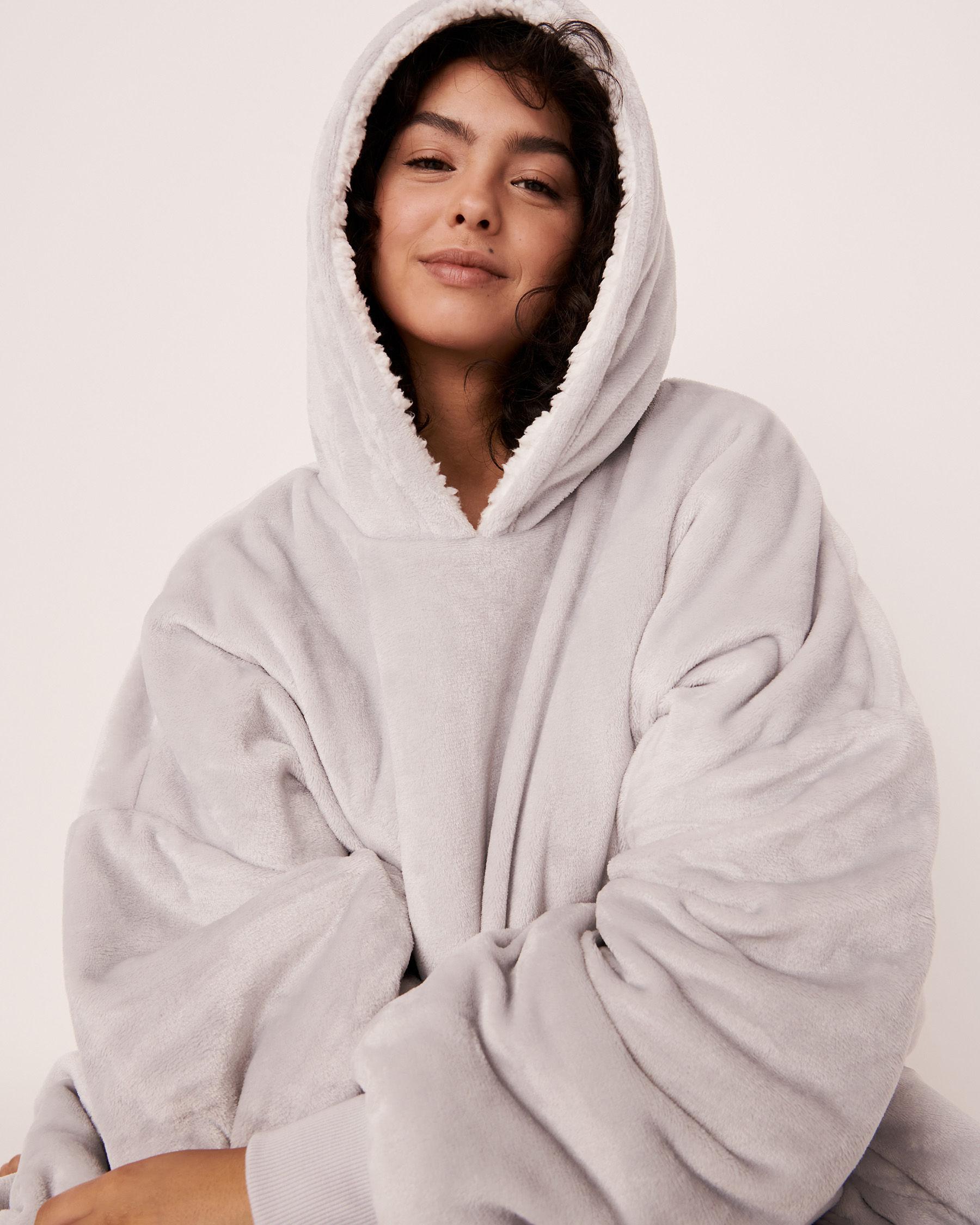 LA VIE EN ROSE Oversized Hoodie Grey 40700073 - View1