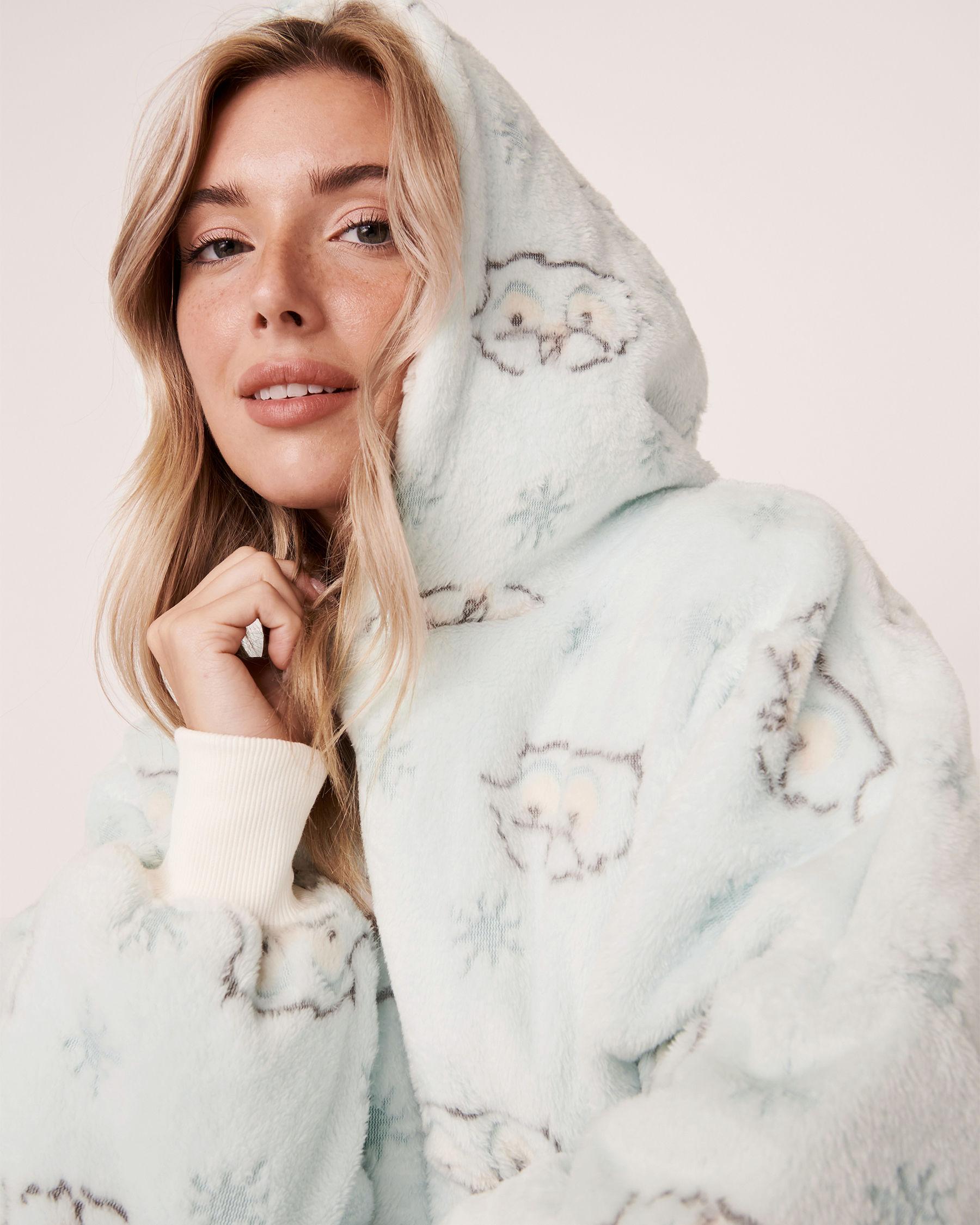 LA VIE EN ROSE Oversized Hoodie Owl 40700073 - View3