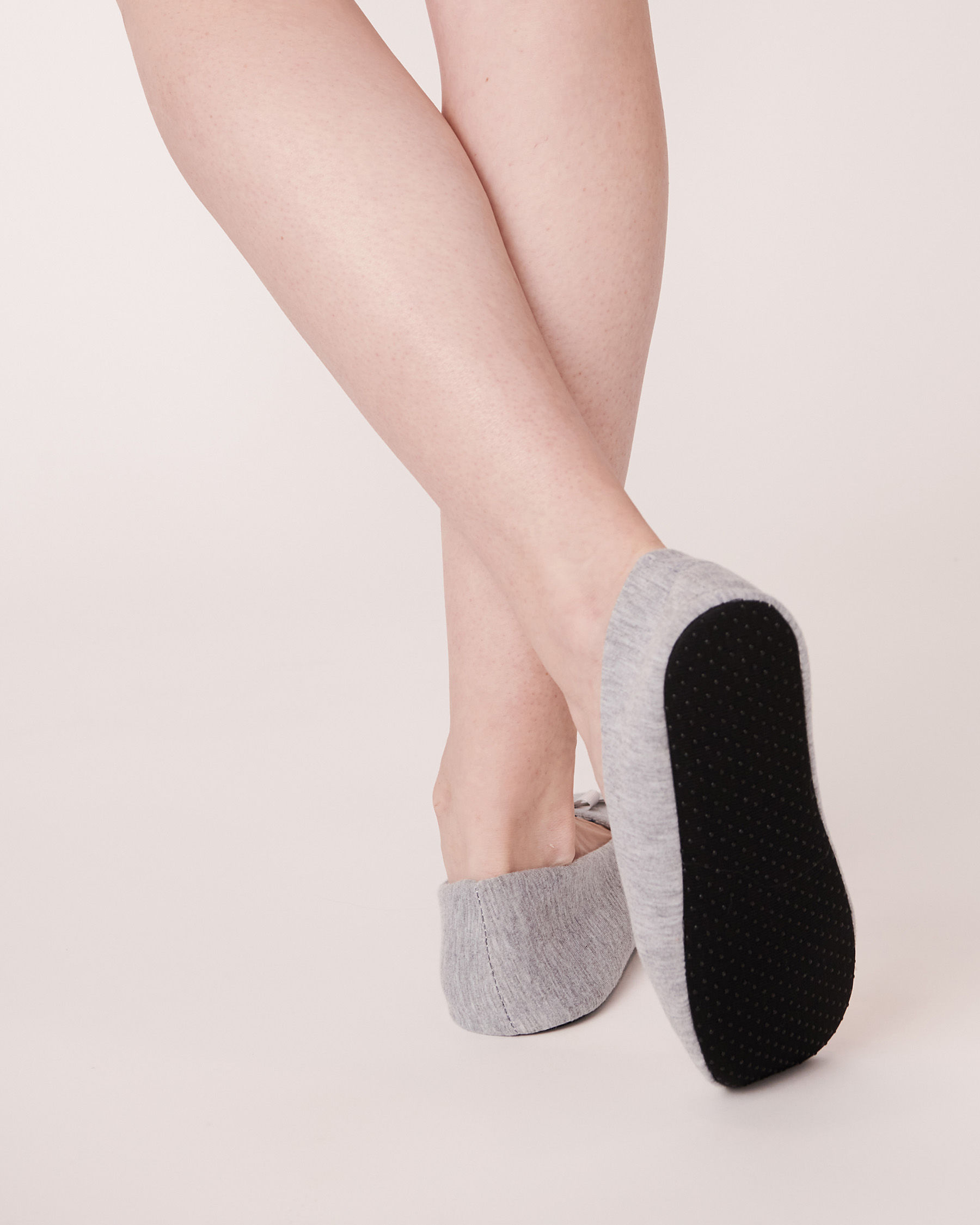 LA VIE EN ROSE Ballerina Slippers Grey 894-551-0-11 - View2