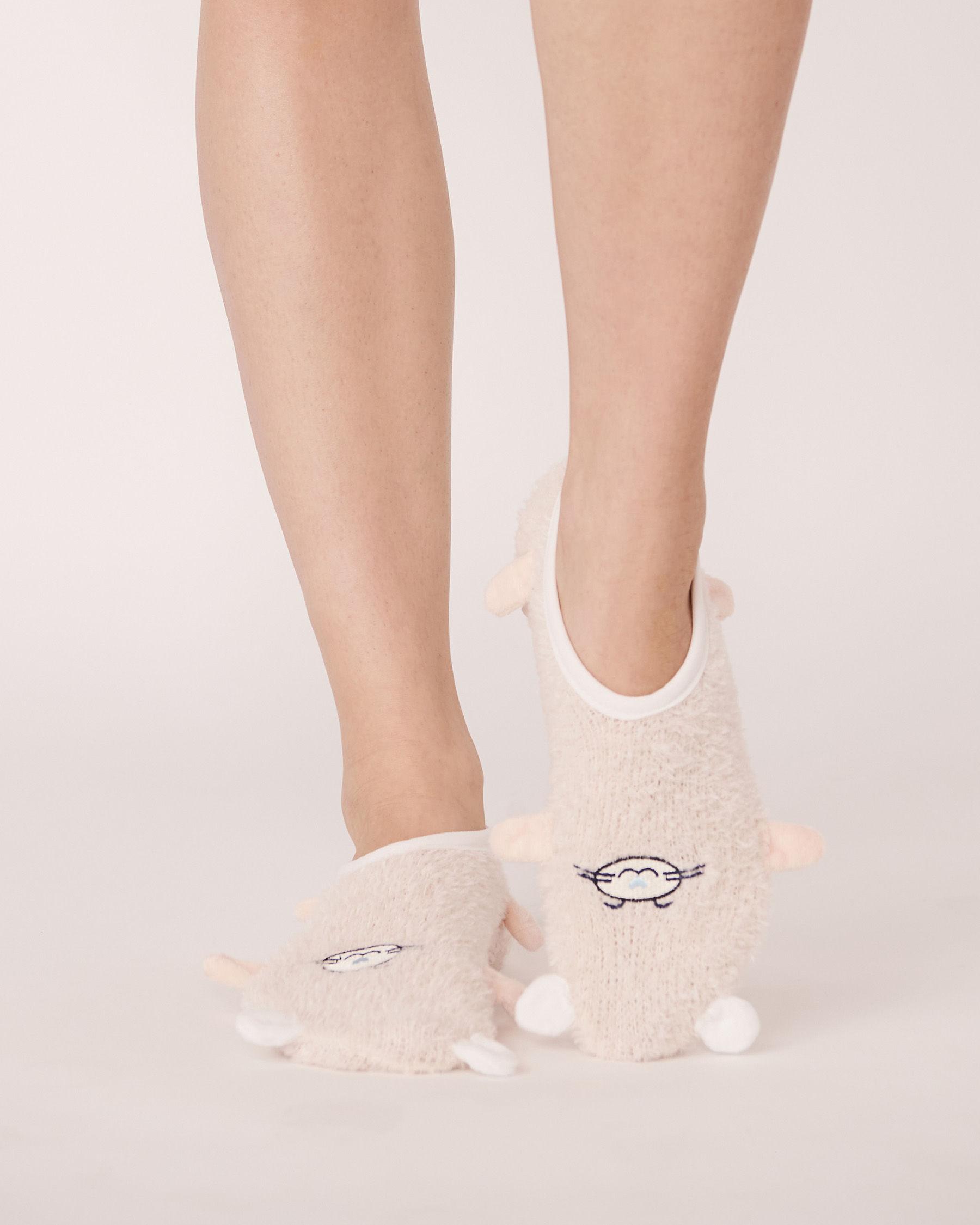 LA VIE EN ROSE Chenille Slipper Socks Soft shell 40700007 - View1