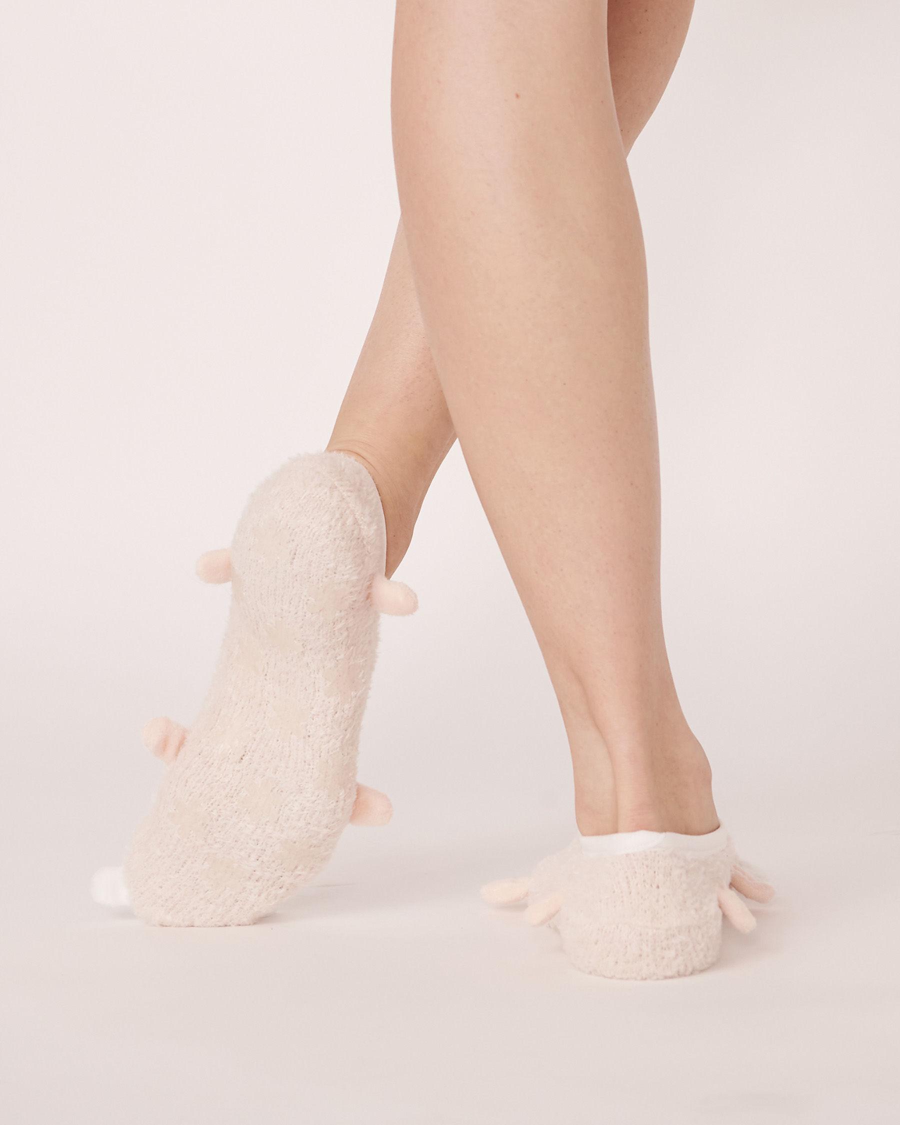 LA VIE EN ROSE Chenille Slipper Socks Soft shell 40700007 - View2
