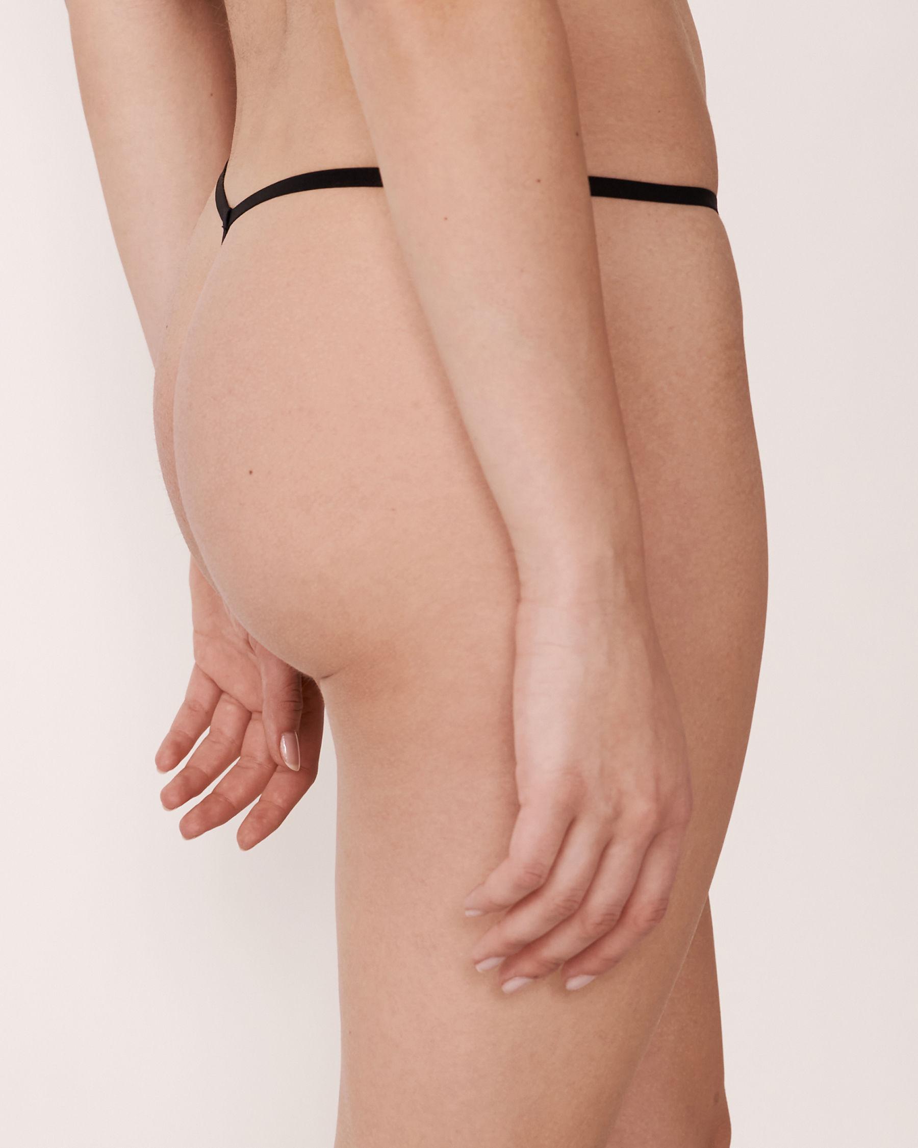 LA VIE EN ROSE Culotte string Noir 20200034 - Voir2