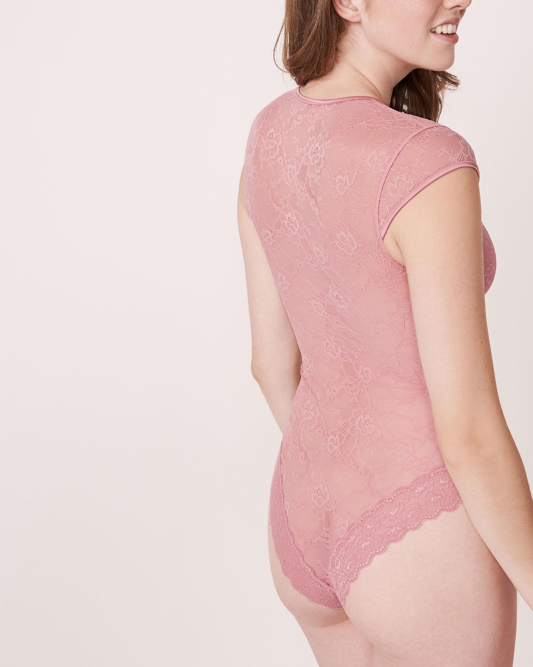 LA VIE EN ROSE Lace and Mesh Teddy Pink 760-441-0-11 - View2