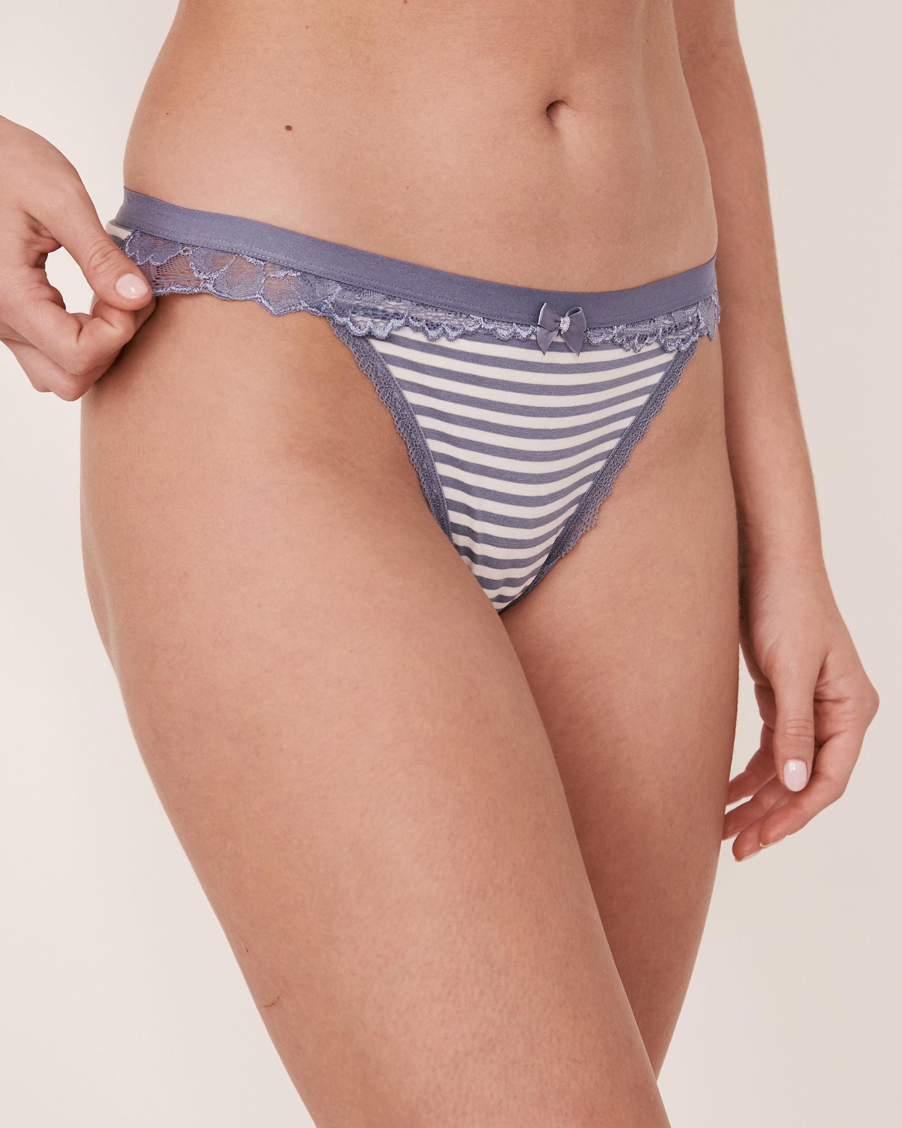 LA VIE EN ROSE Thong Panty Horizontal stripes 20100046 - View1