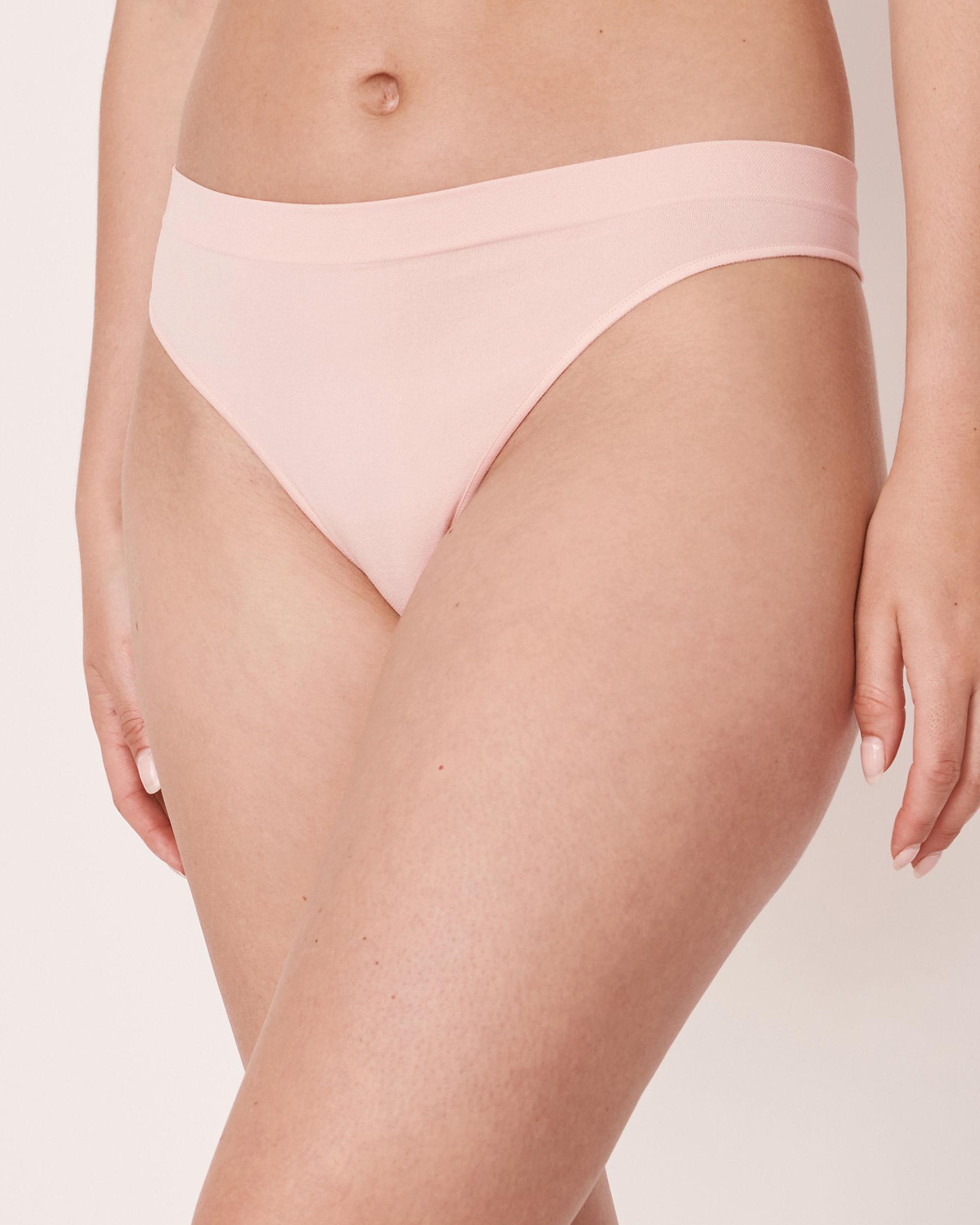 LA VIE EN ROSE Seamless Thong Panty Light pink 20200036 - View1