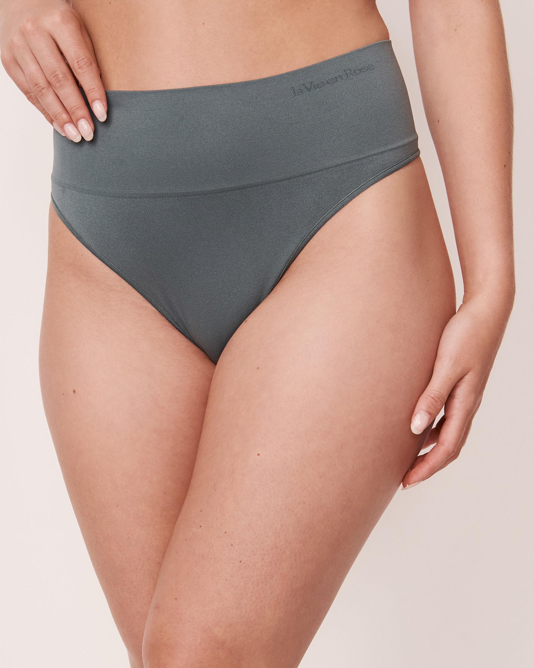 LA VIE EN ROSE Seamless High Waist Thong Panty Green 20200039 - View1