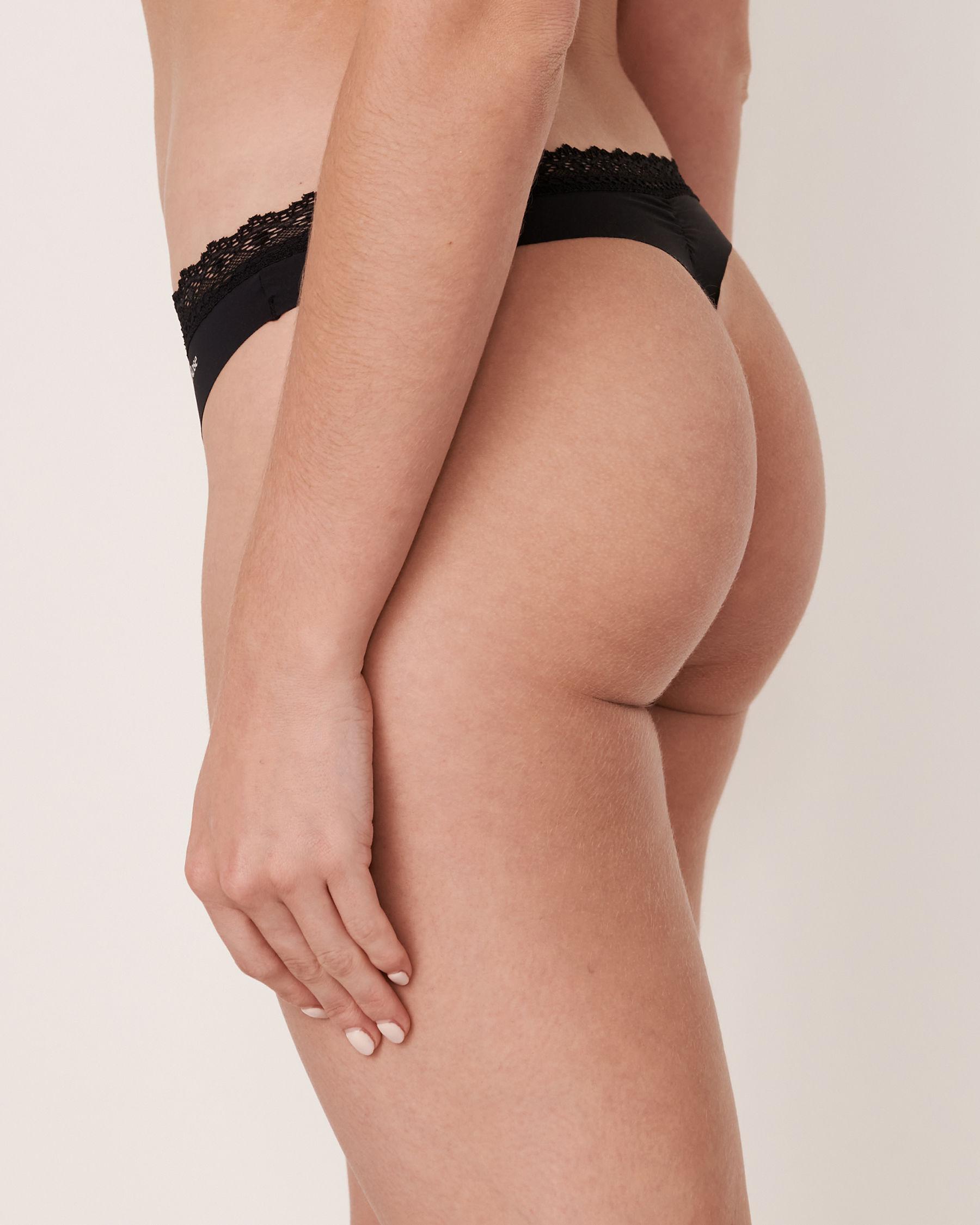 LA VIE EN ROSE Thong Panty Black 20200054 - View2